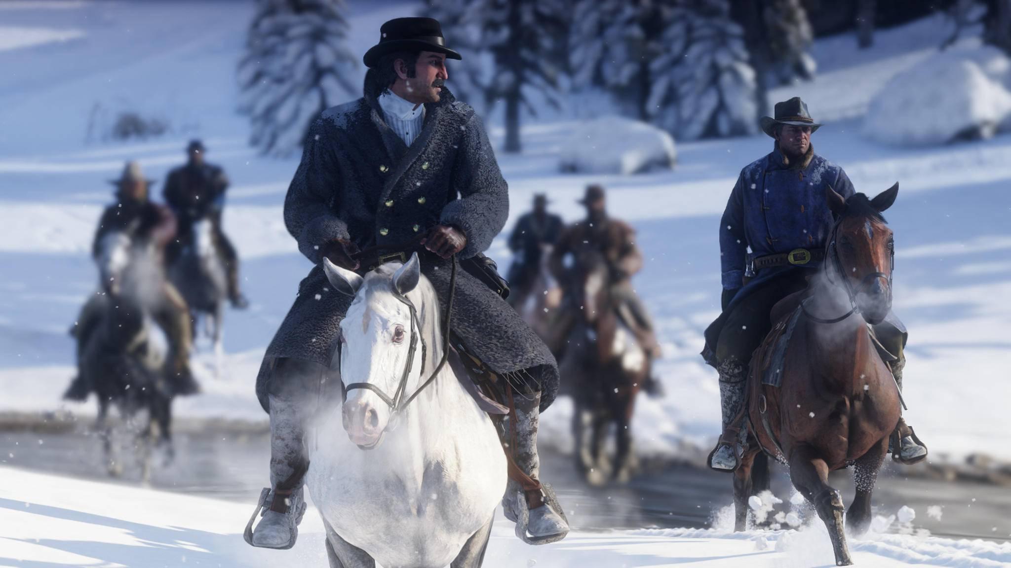 """""""Red Dead Redemption 2"""" wird auf der PS4 Pro und Xbox One X in 4K-Auflösung laufen."""