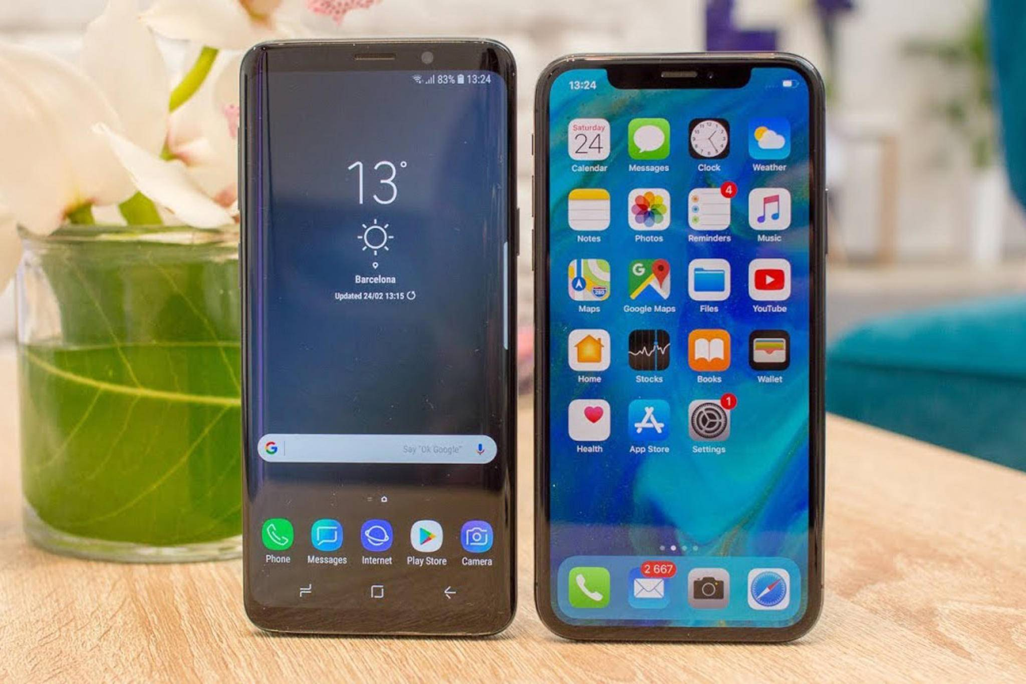Das Galaxy S9 ist zwar schnell, aber nicht so schnell wie das iPhone X.