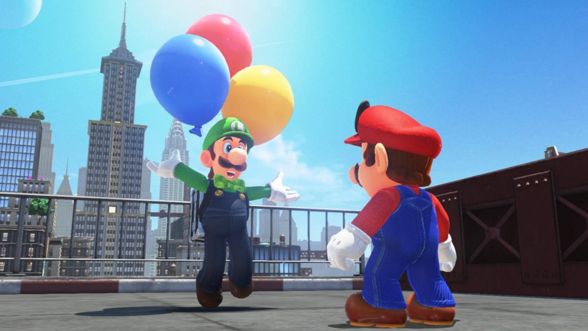 """Luigi schickt Mario in """"Super Mario Odyssey"""" in ein neues Minispiel."""