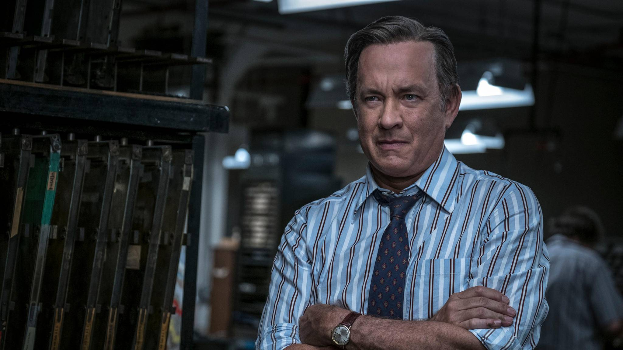"""Tom Hanks spielt (auch wie hier in """"Die Verlegerin"""") meist ehrenwerte Charaktere."""