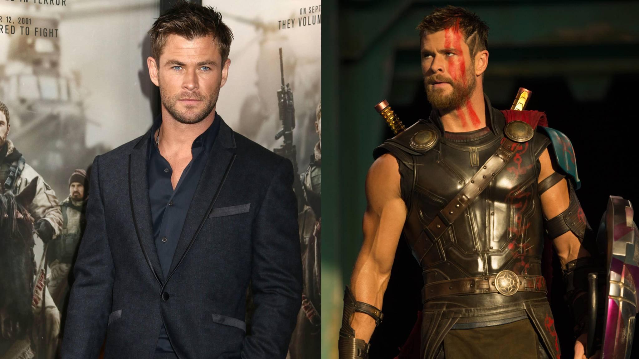 Zumindest macht Chris Hemsworth in beiden Outfits eine gute Figur ...
