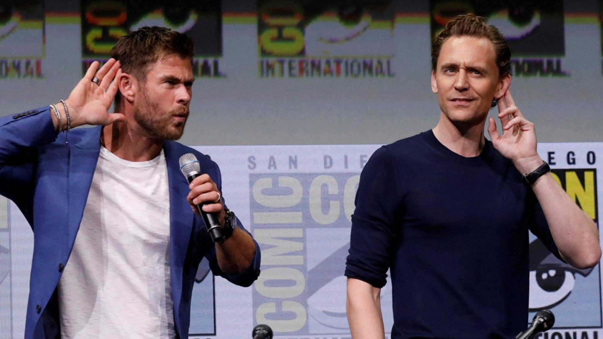 """Haben wir richtig gehört?! Die Verträge von Thor-Darsteller Chris Hemsworth und Loki-Darsteller Tom Hiddleston laufen nach """"Avengers 4"""" aus."""