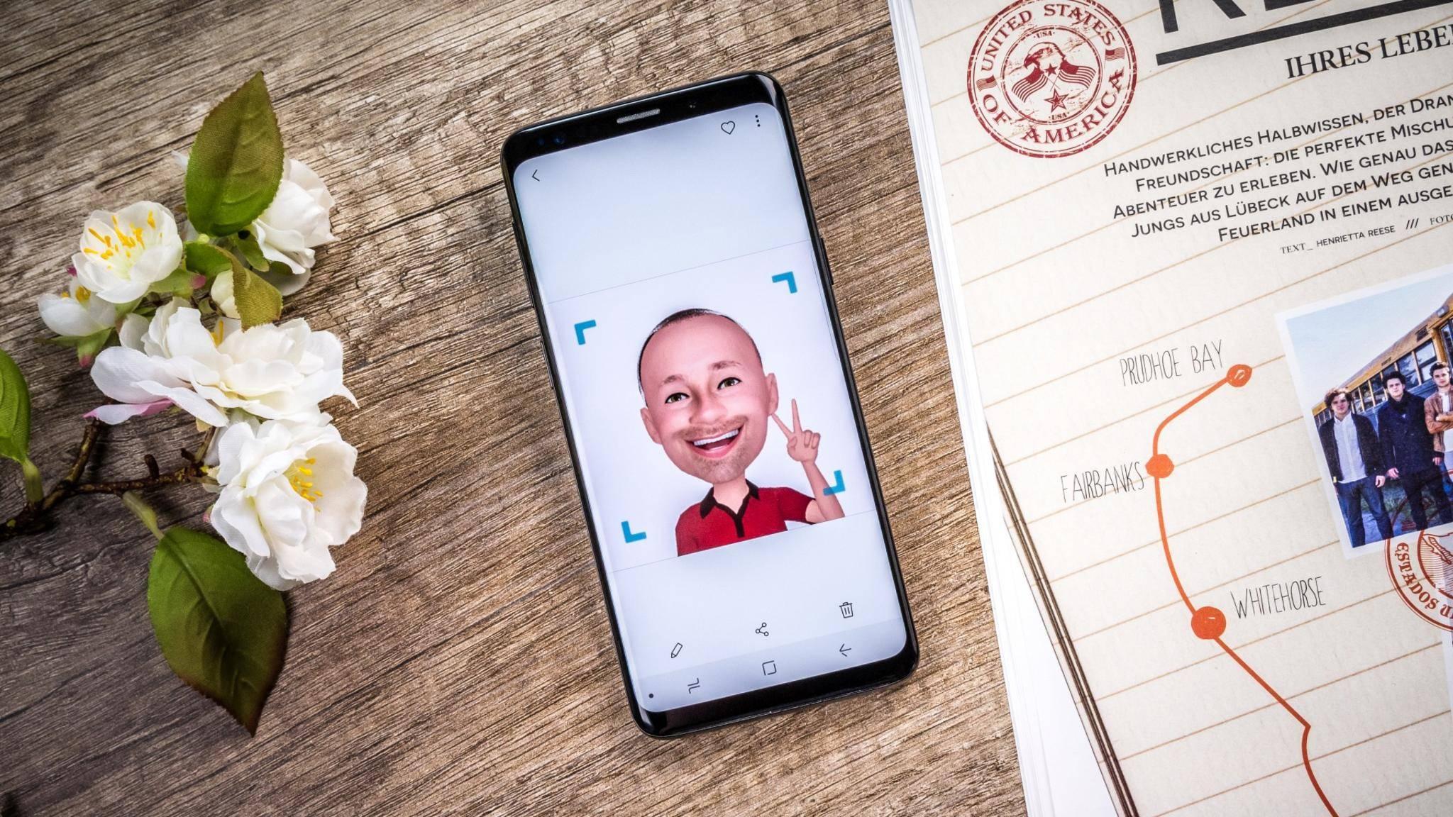 Samsungs AR-Emojis könnten zukünftig für Videoanrufe eingesetzt werden.