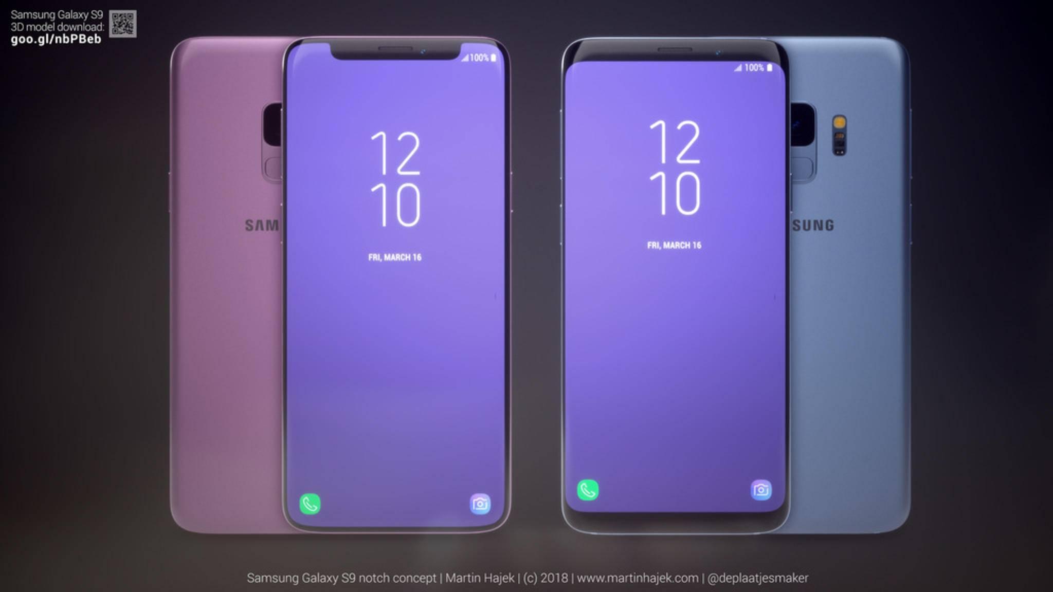 Das Galaxy S9 mit Display-Kerbe ist nur eine Design-Studie.