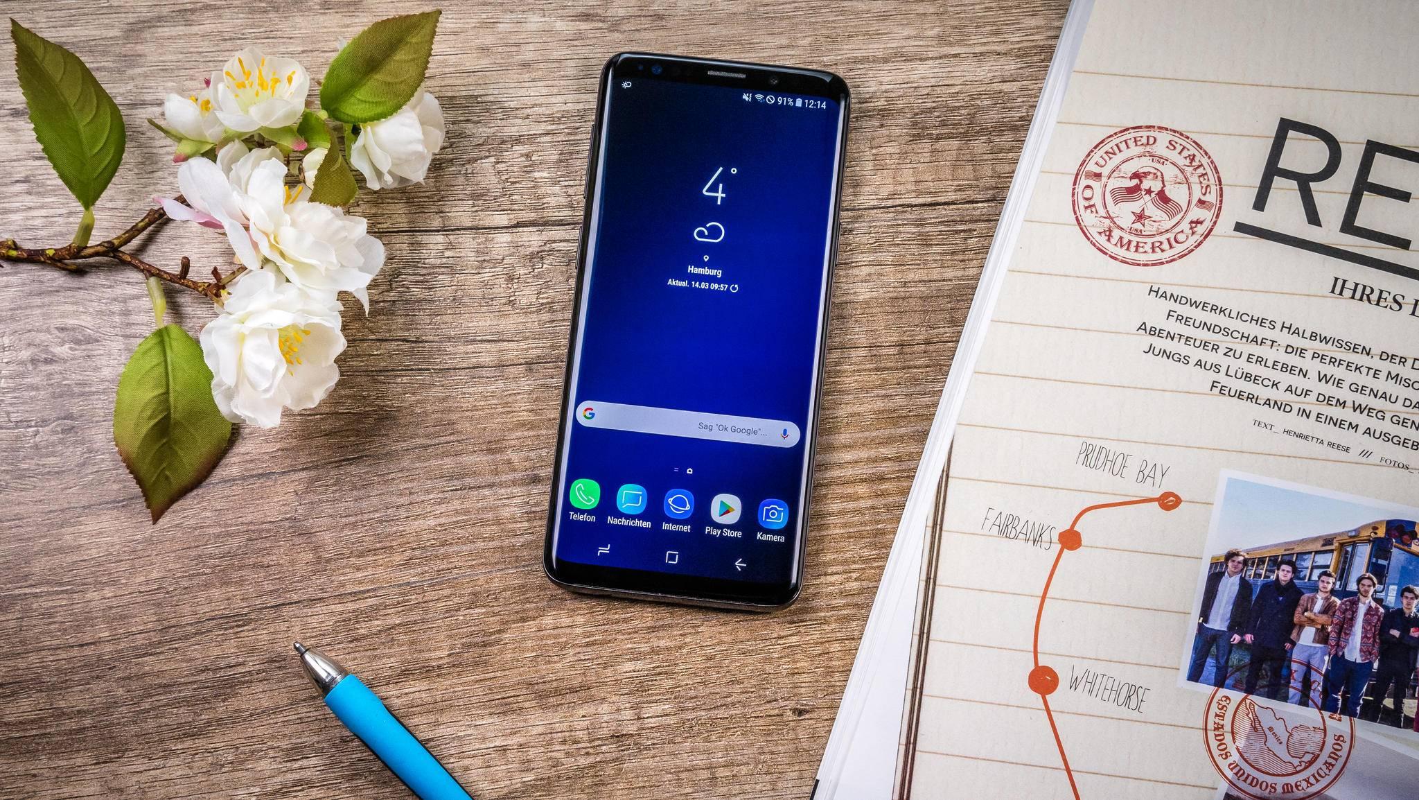 Gänzlich randlos ist das Display des Galaxy S9 nicht wirklich.