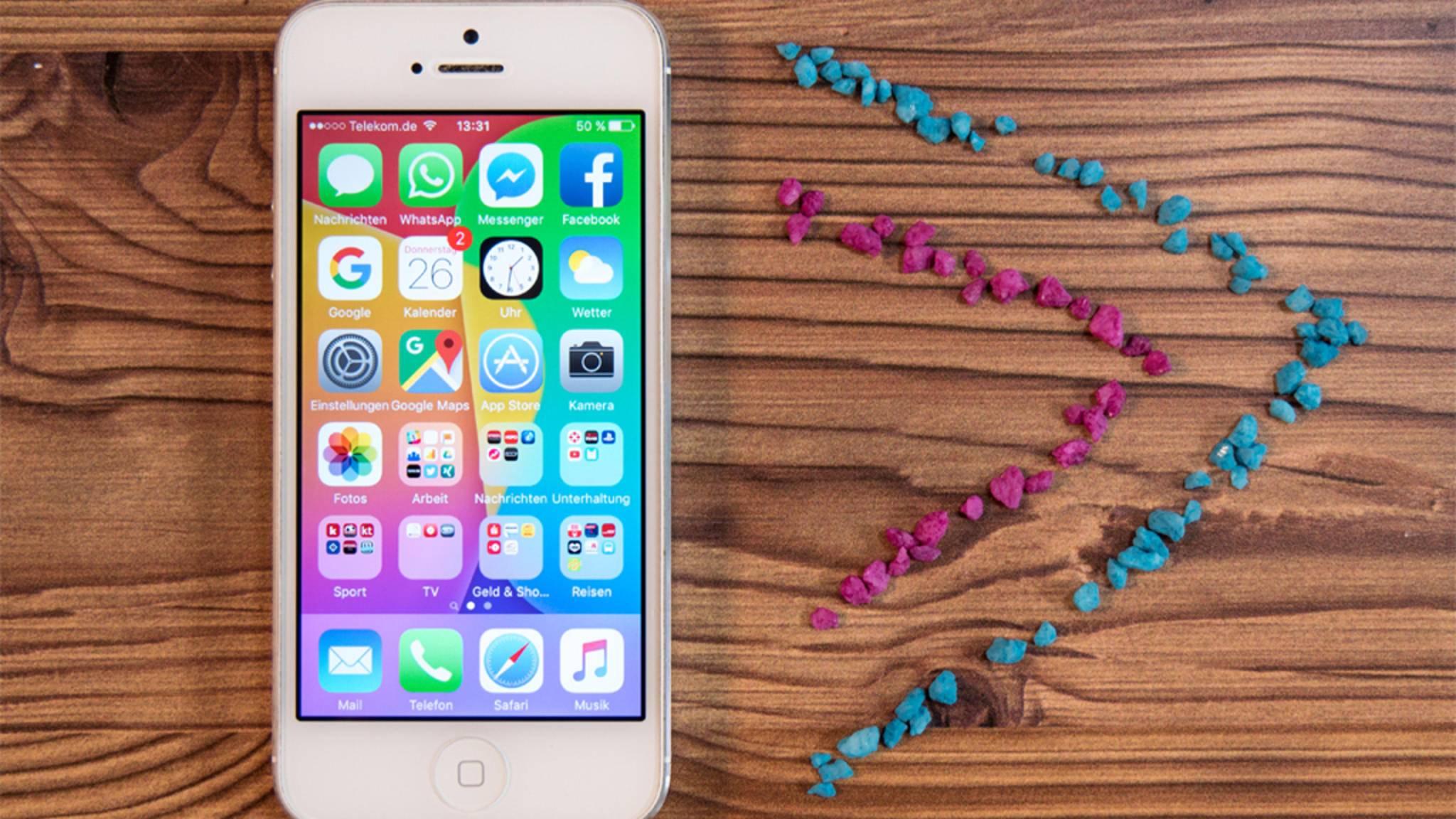 Die Erstellung eines Ordners auf dem iPhone ist nicht offensichtlich.
