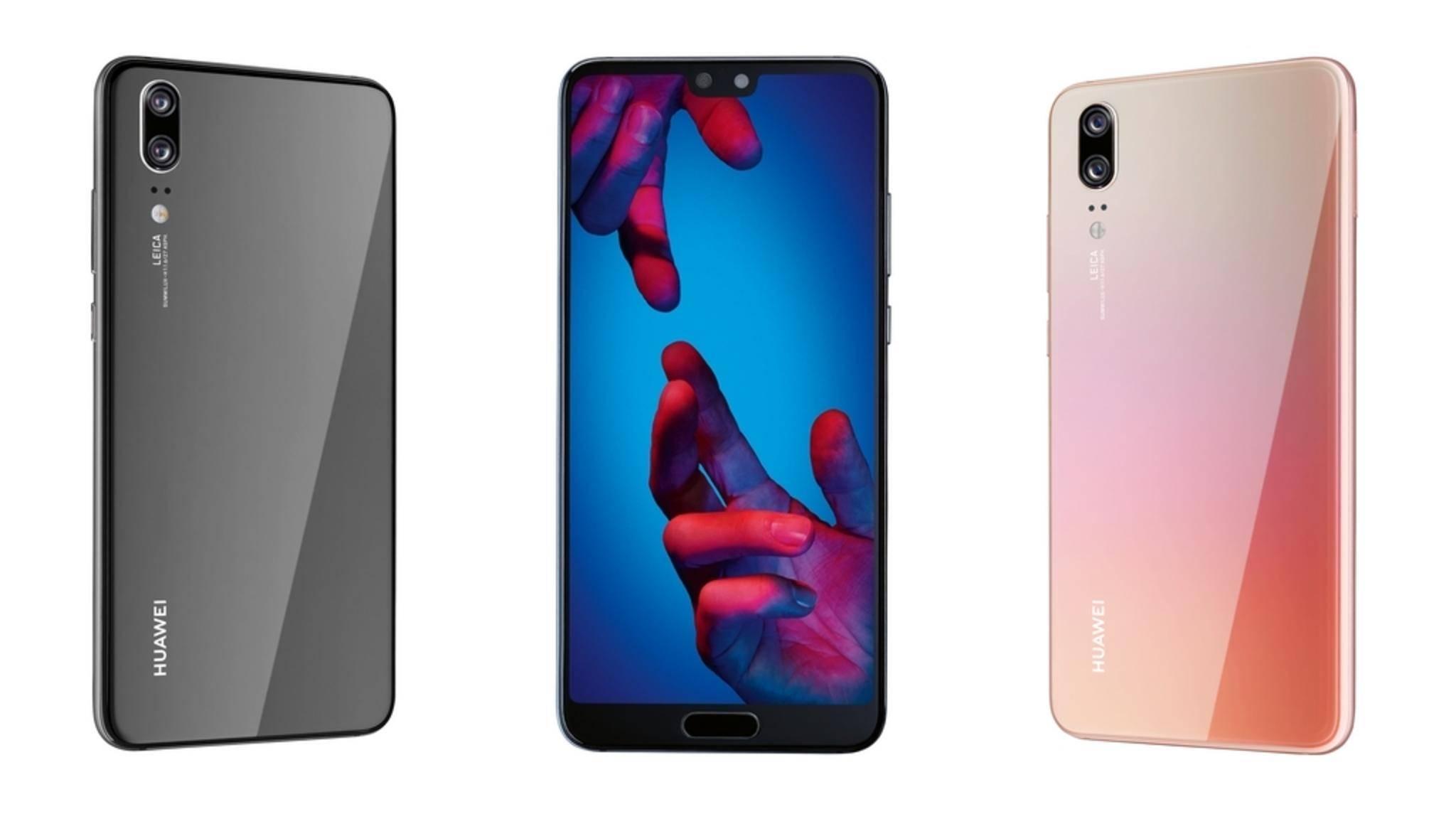 Das Huawei P20 erinnert optisch stark an das iPhone X.