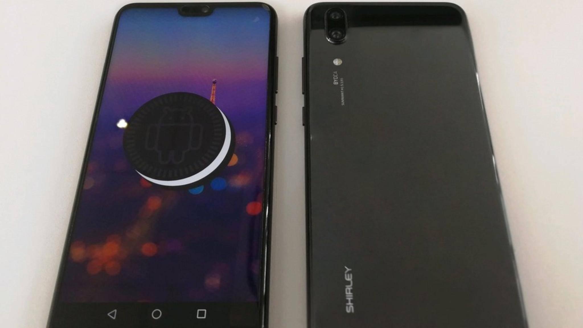Das Huawei P20 orientiert sich offenbar am Design des iPhone X.