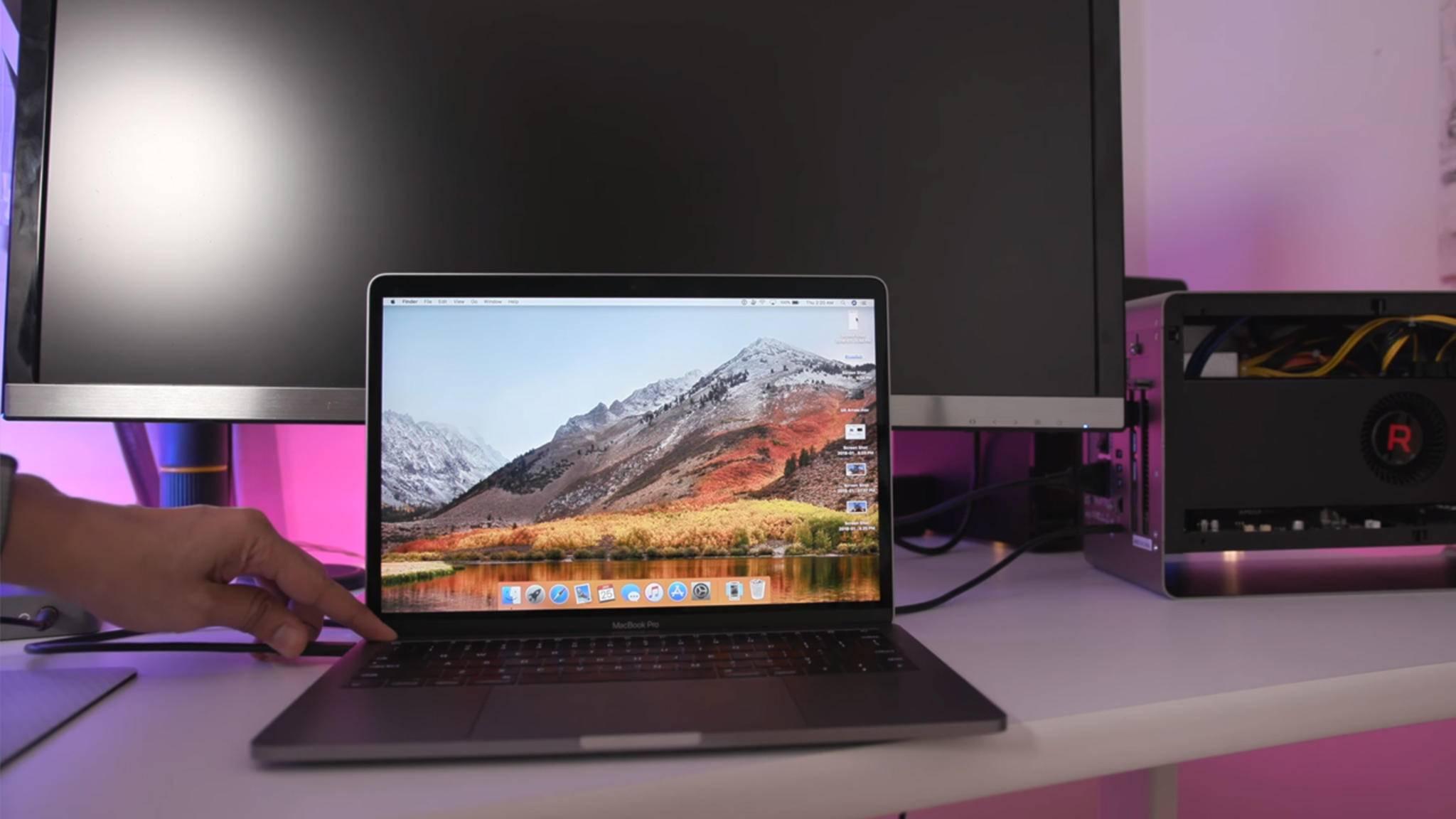 MacOS unterstützt jetzt externe Grafikkarten, die per Thunderbolt 3 angeschlossen werden.