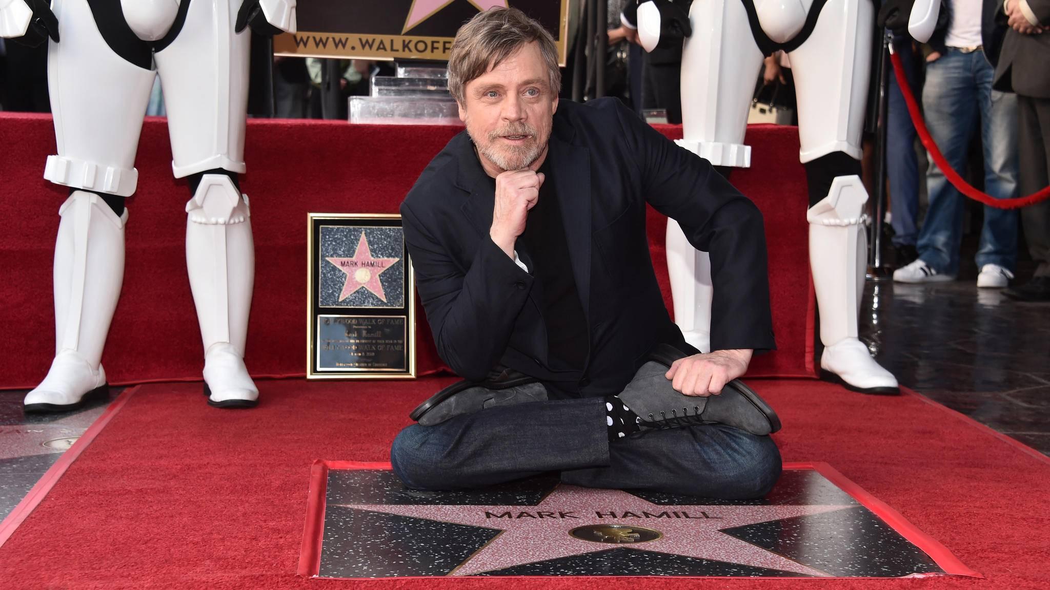 Mark Hamill ist nun auf dem Hollywood Walk of Fame verewigt.