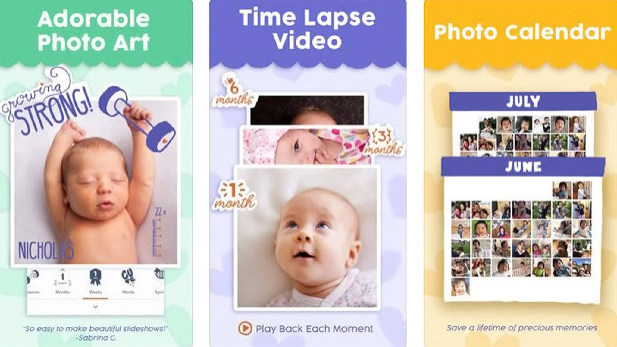 Foto-App Precious verhilft Eltern zum absoluten Aaaawwww-Effekt für ihre Babyfotos.