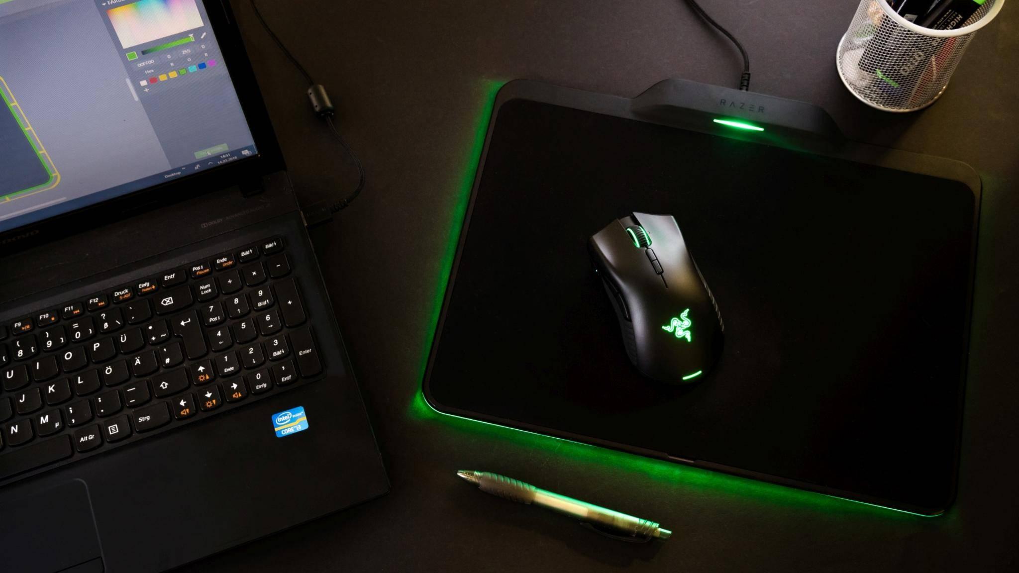 Die Gaming-Maus Razer Mamba Hyperlux verzichtet auf ein Kabel – und auf einen Akku.