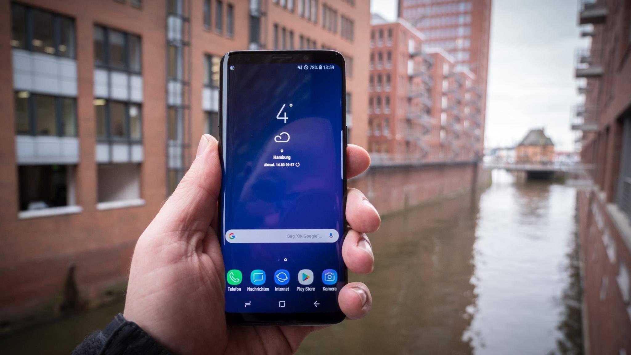 Soll nicht immer einwandfrei auf Touchscreen-Eingaben reagieren: das Galaxy S9.