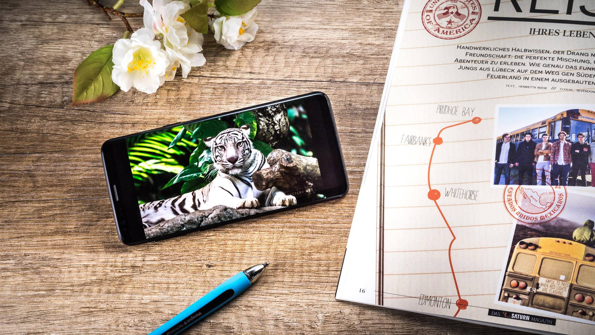 Das Samsung Galaxy S9 hat eine Pixeldichte von 568 ppi.