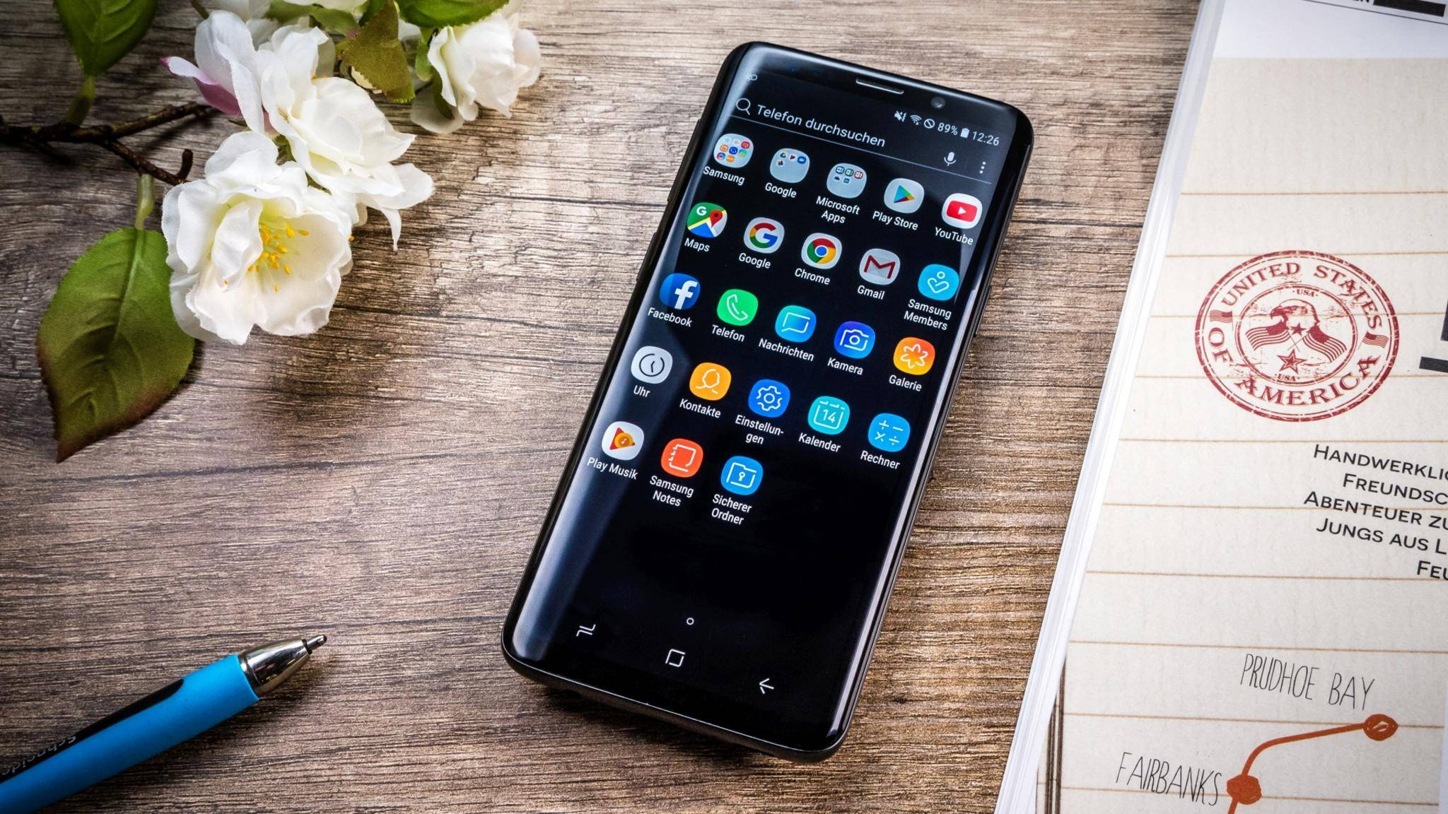 Das Galaxy S9 hat ein Super-AMOLED-Infinity-Display.