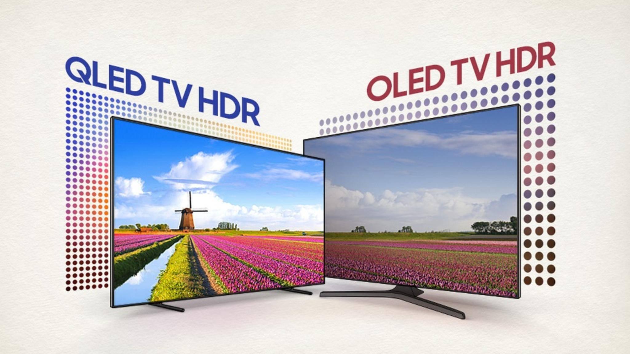 QLED-Fernseher erreichen eine höhere Helligkeit als OLED-TVs.