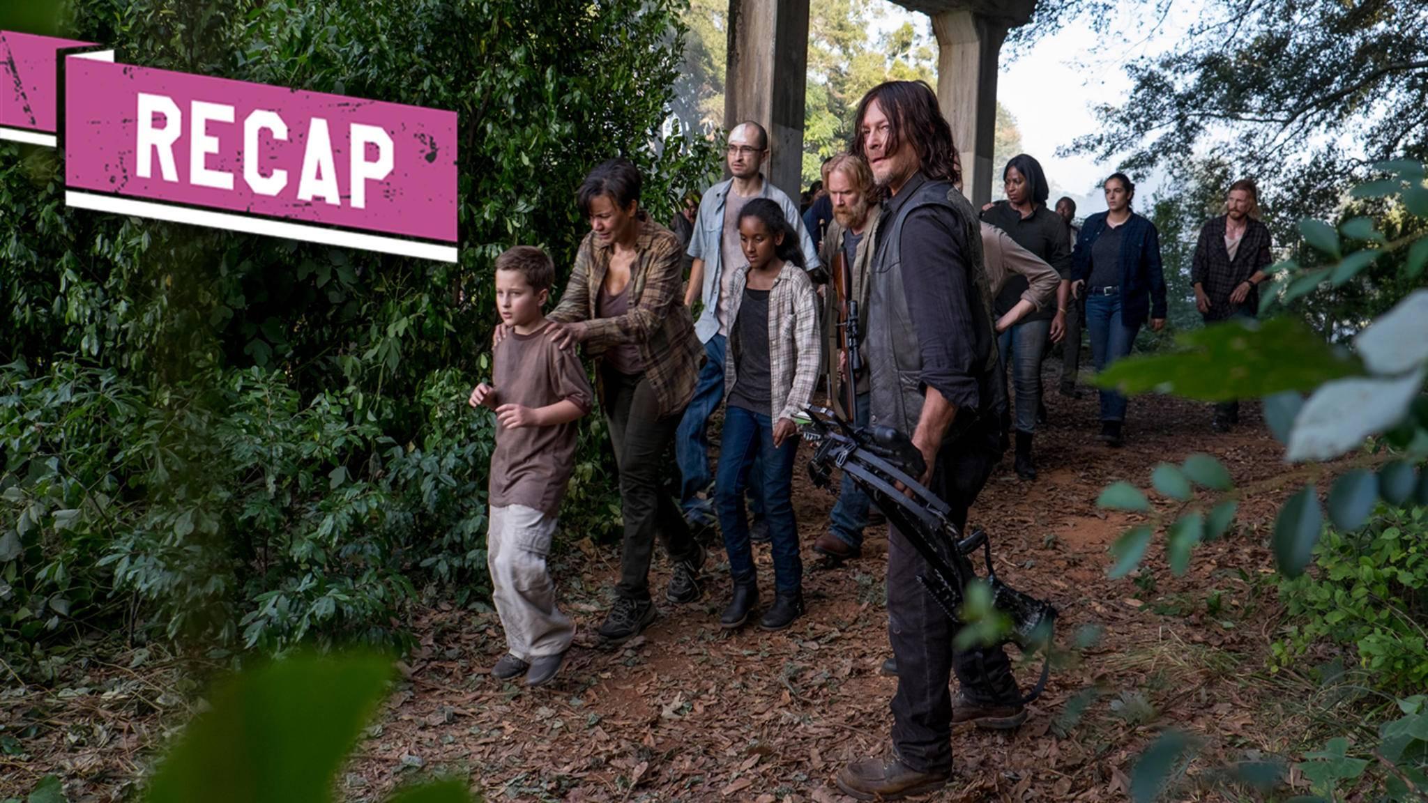 Daryl führt die überlebenden Alexandrianer in Episode 11 von Staffel 8 nach Hilltop.