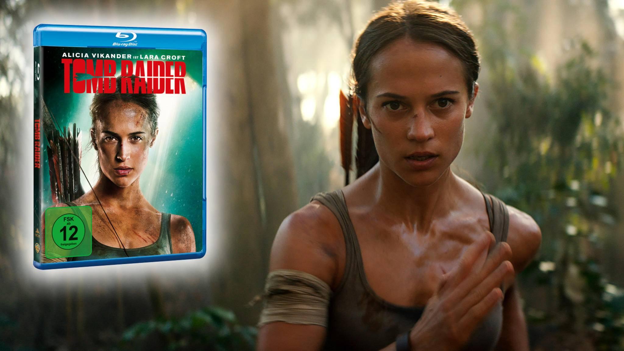 """Anfang 2018 eroberte Alicia Vikander im neuen """"Tomb Raider""""-Film als Lara Croft die Leinwand, jetzt entert sie die Heimkino-Regale."""