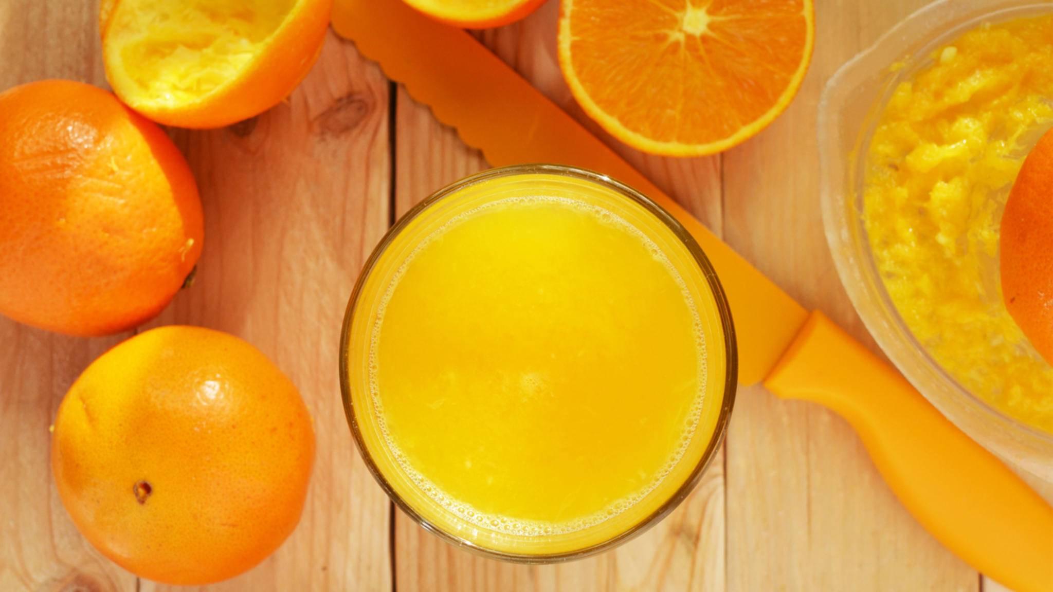 Huch, wie hat sich denn der Orangensaft hier eingeschlichen?