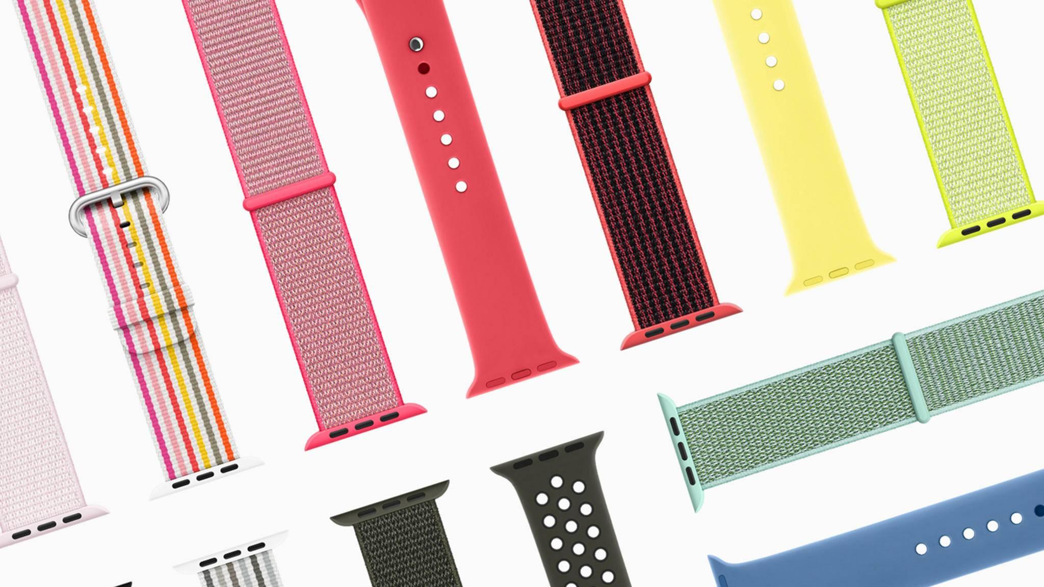 Buntes Treiben am Handgelenk: Die neuen Armbänder für die Apple Watch sind da.