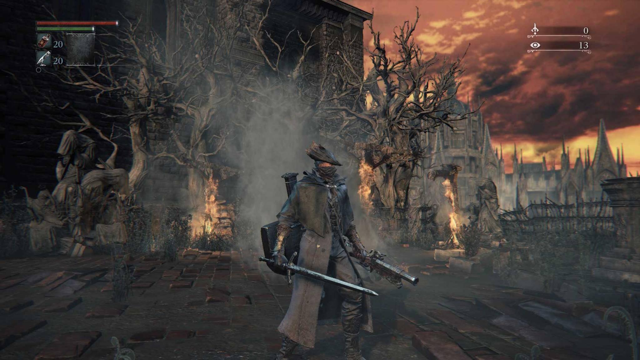 """""""Bloodborne"""" begeistert mit Anspruch und Atmosphäre – aber nur auf der PS4."""