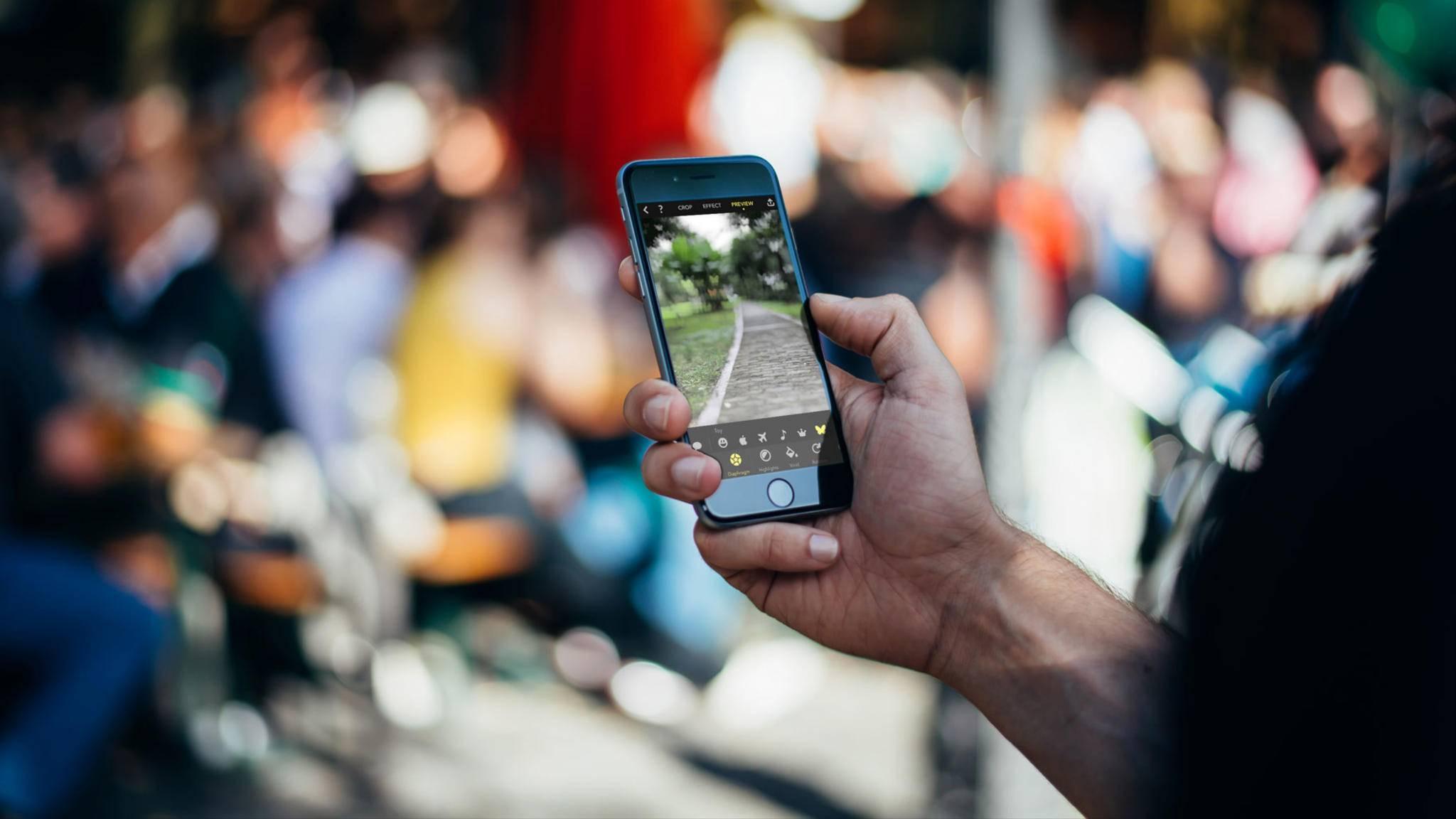 Focos bietet mehr Einstellungen für Bokeh-Effekte als die normale iOS-Kamera.