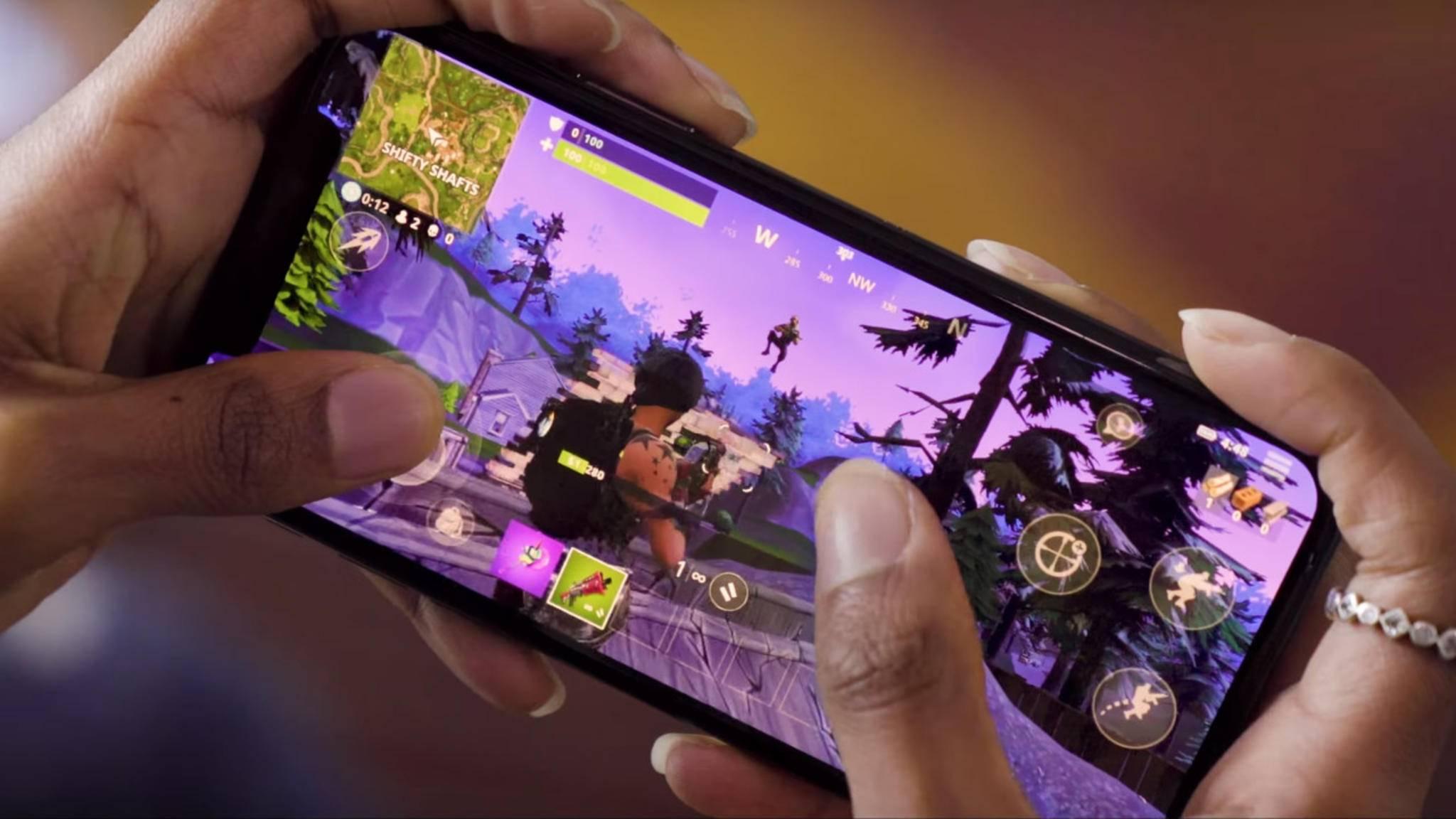 """Bald nicht mehr nur auf iPhones: """"Fortnite"""" soll im Sommer auch Android erobern."""