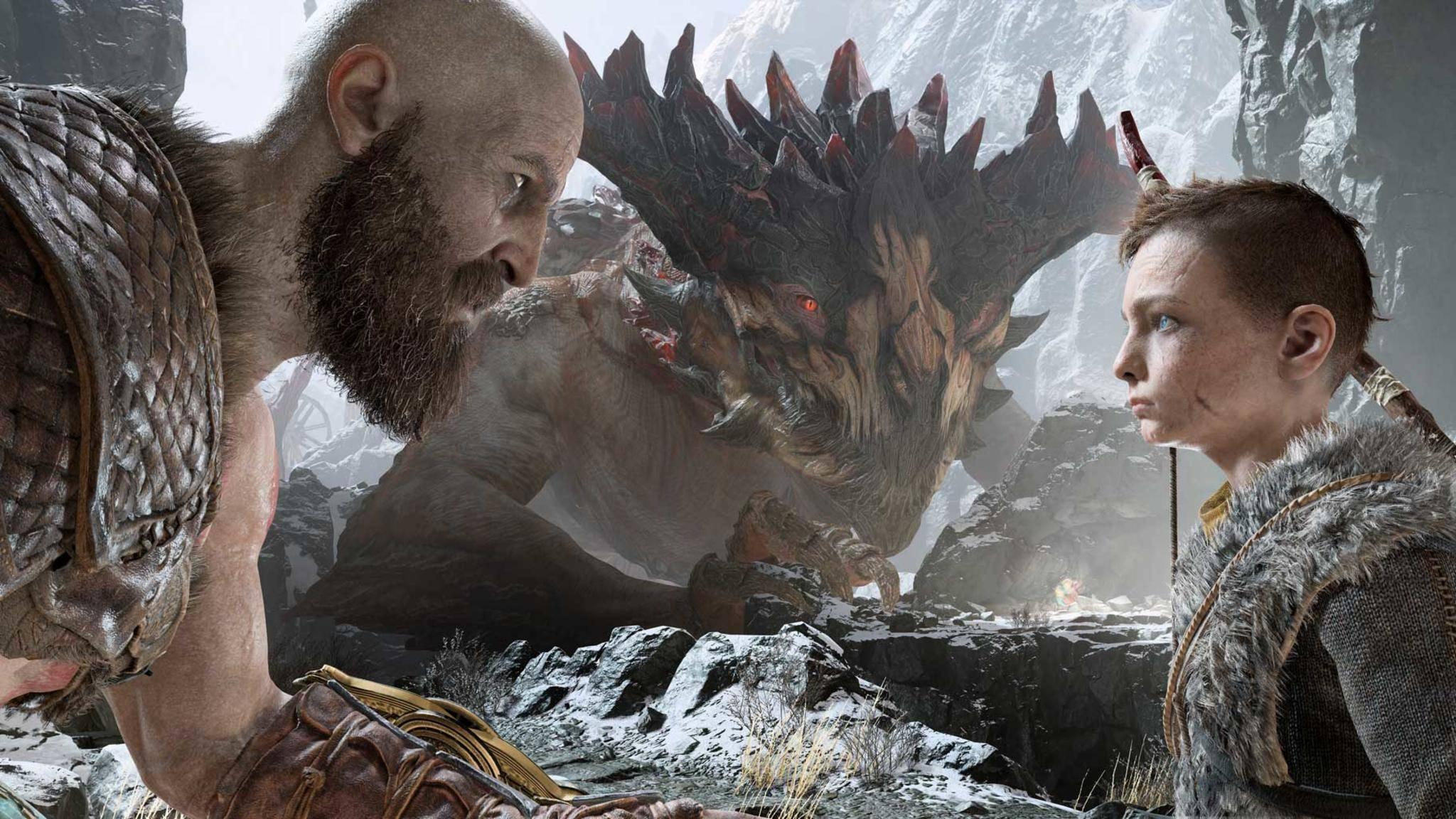 """Die gewaltigen Drachen kannst Du in """"God of War"""" nicht nur bekämpfen, sondern auf Wunsch auch befreien."""