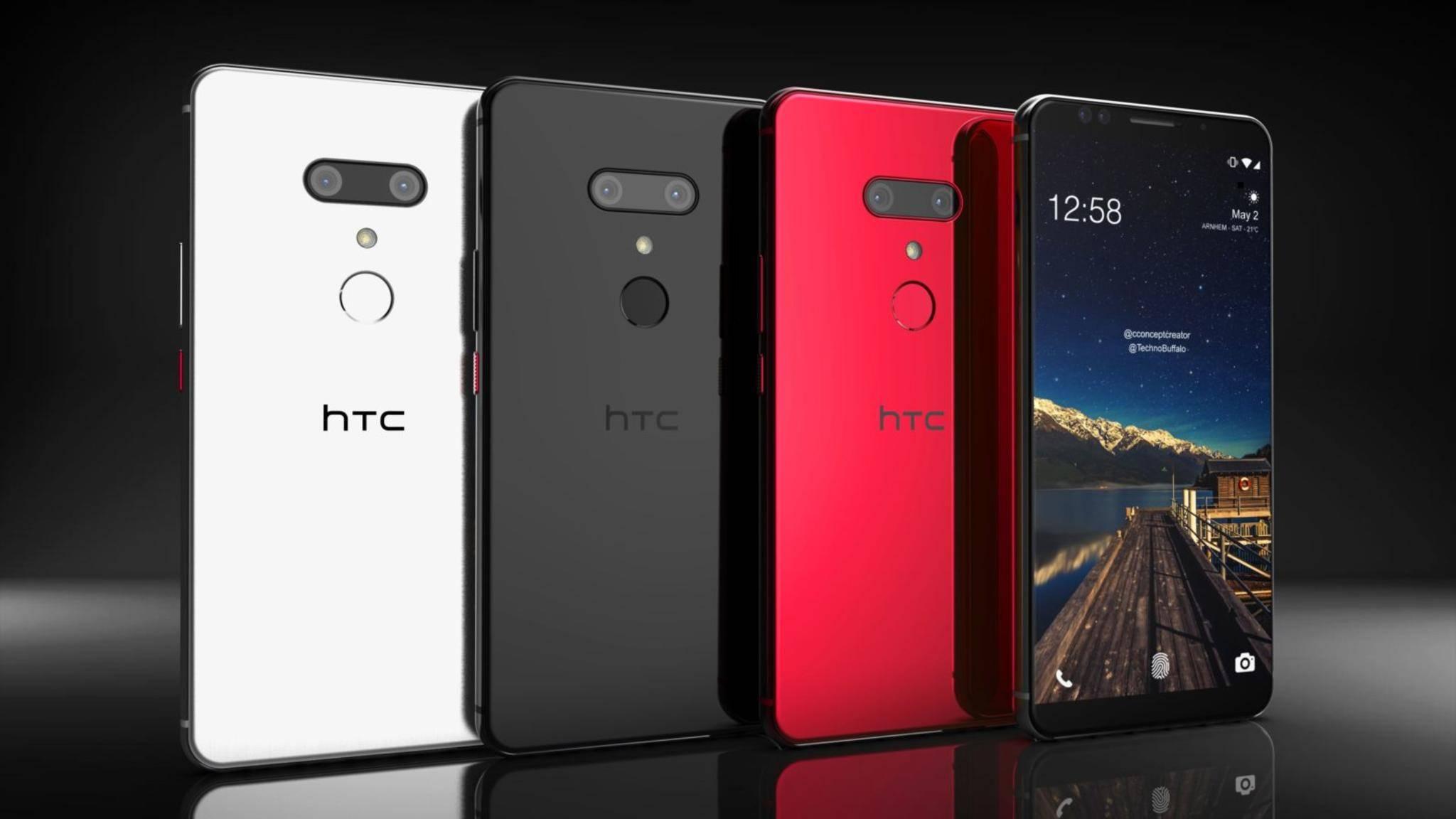 Das HTC U12 Plus (hier ein Konzeptbild) soll das einzige HTC-Flaggschiff von 2018 werden.