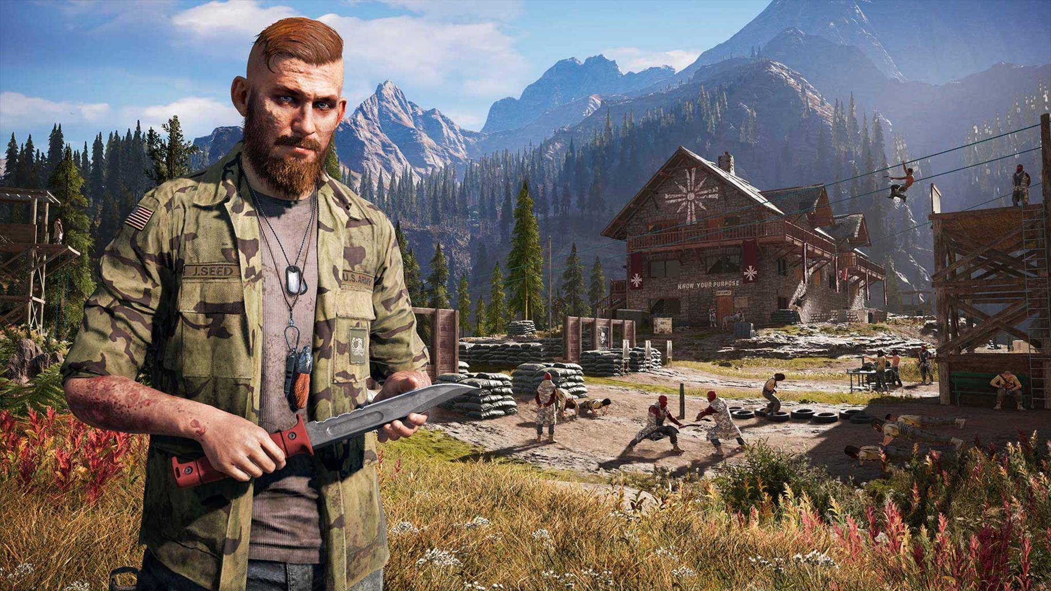 """Ja, in """"Far Cry 5"""" flimmert nach knapp 10 Minuten schon der Abspann über den Monitor - wenn der Spieler alles richtig macht."""