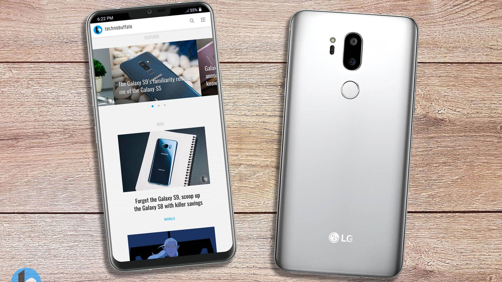 Angeblich kann sich auch LG der Notch nicht entziehen: So könnte das LG G7 aussehen.
