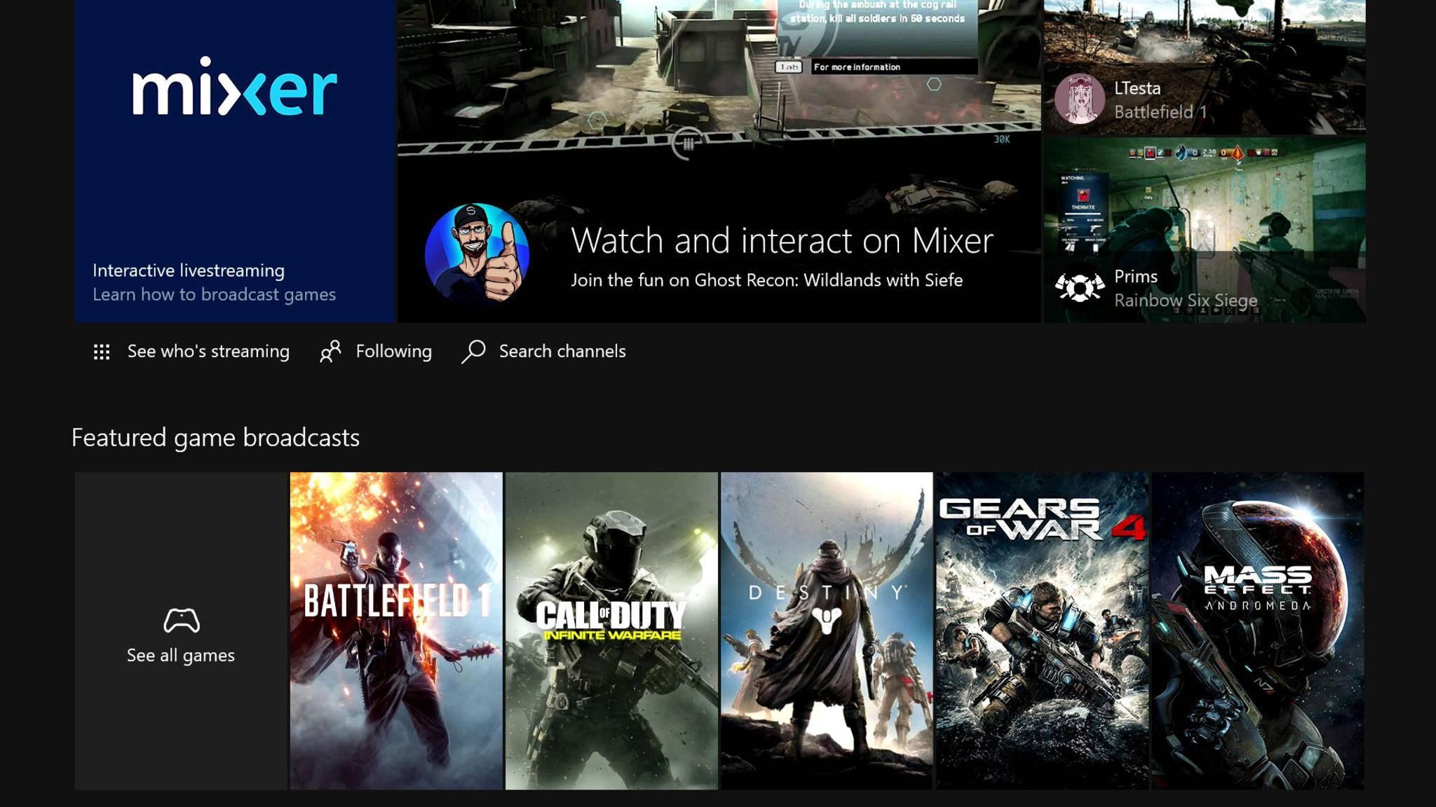 Neu bei Mixer: Mixplay von Microsoft