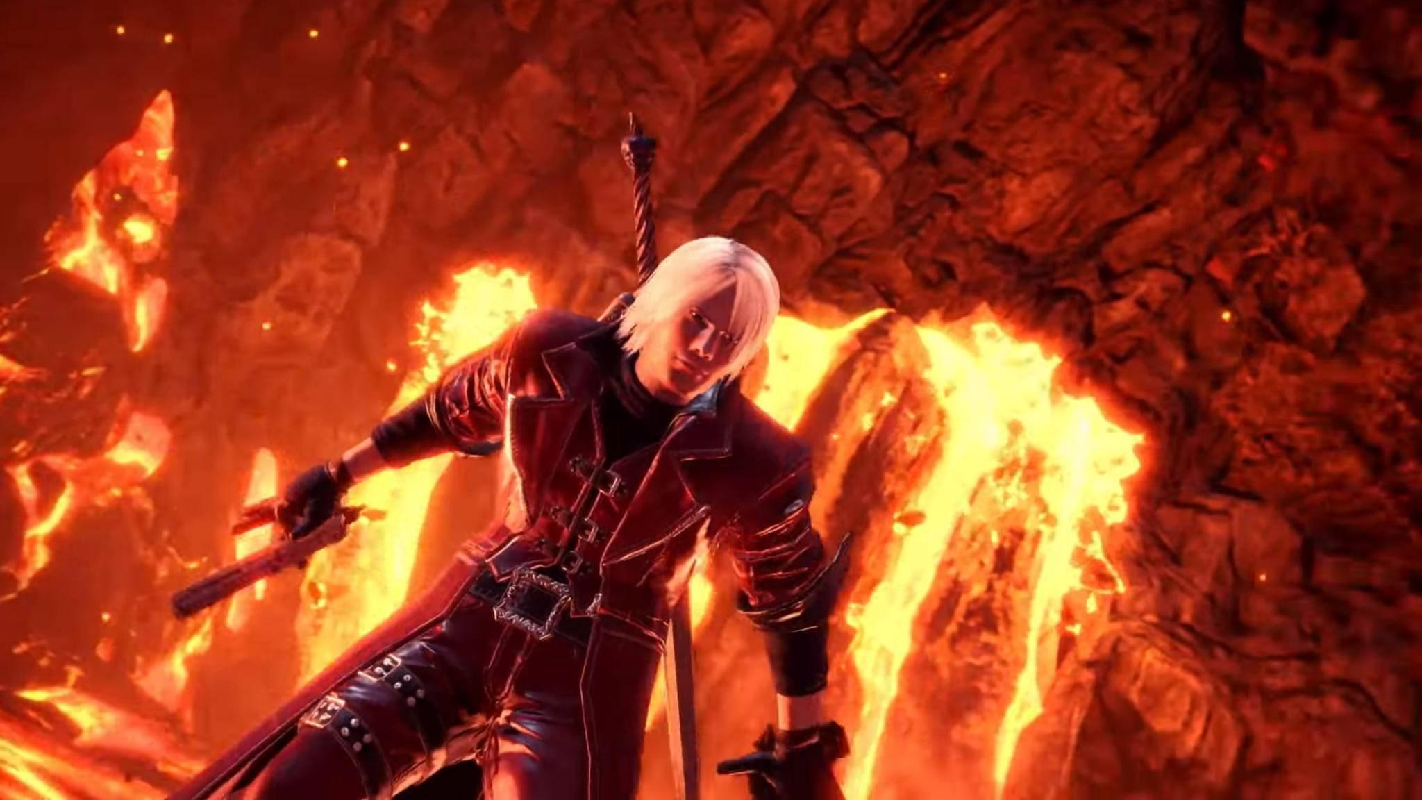 """So wirst Du im """"Devil May Cry""""-Event von """"Monster Hunter: World"""" zu Dante."""