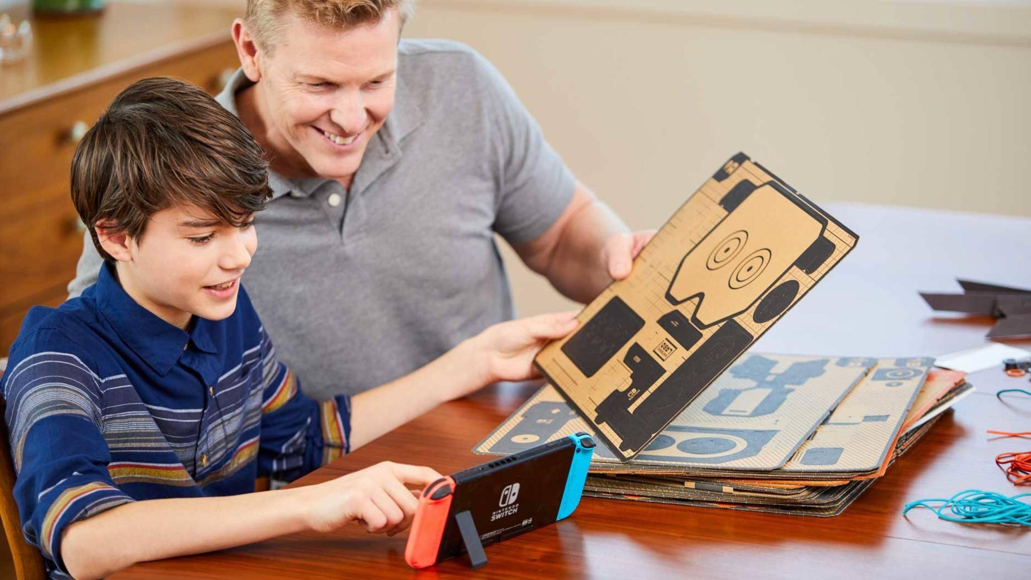 Nintendo bietet für Labo Ersatzteile an.
