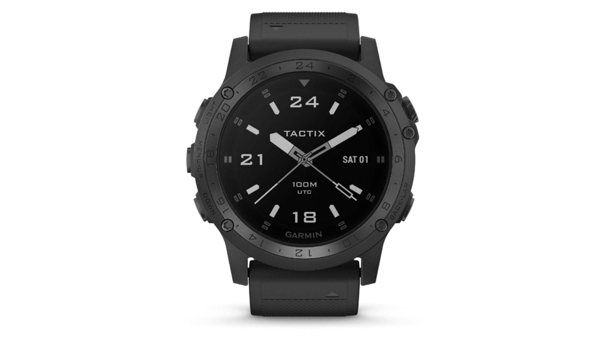 Die Garmin-Smartwatch tactix Charlie ist robust – und kommt mit praktischen Features für Outdoor-Profis daher.