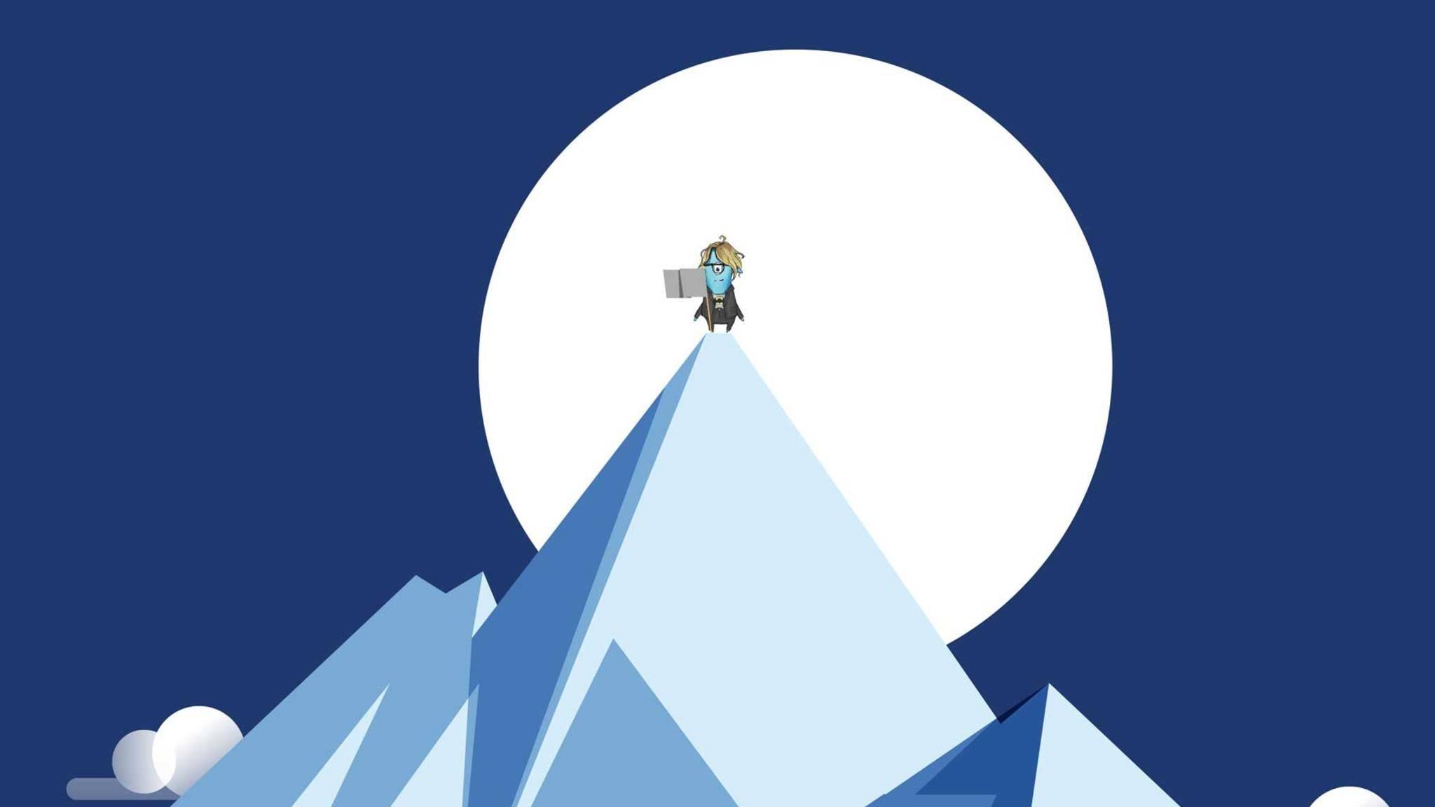 """Prof. Dr. Linda Breitlauch gibt es auch als Game-Charakter, in unterschiedlichen Versionen illustriert von ihren Studenten. Hier ist sie als """"Blue Minion"""" zu sehen."""
