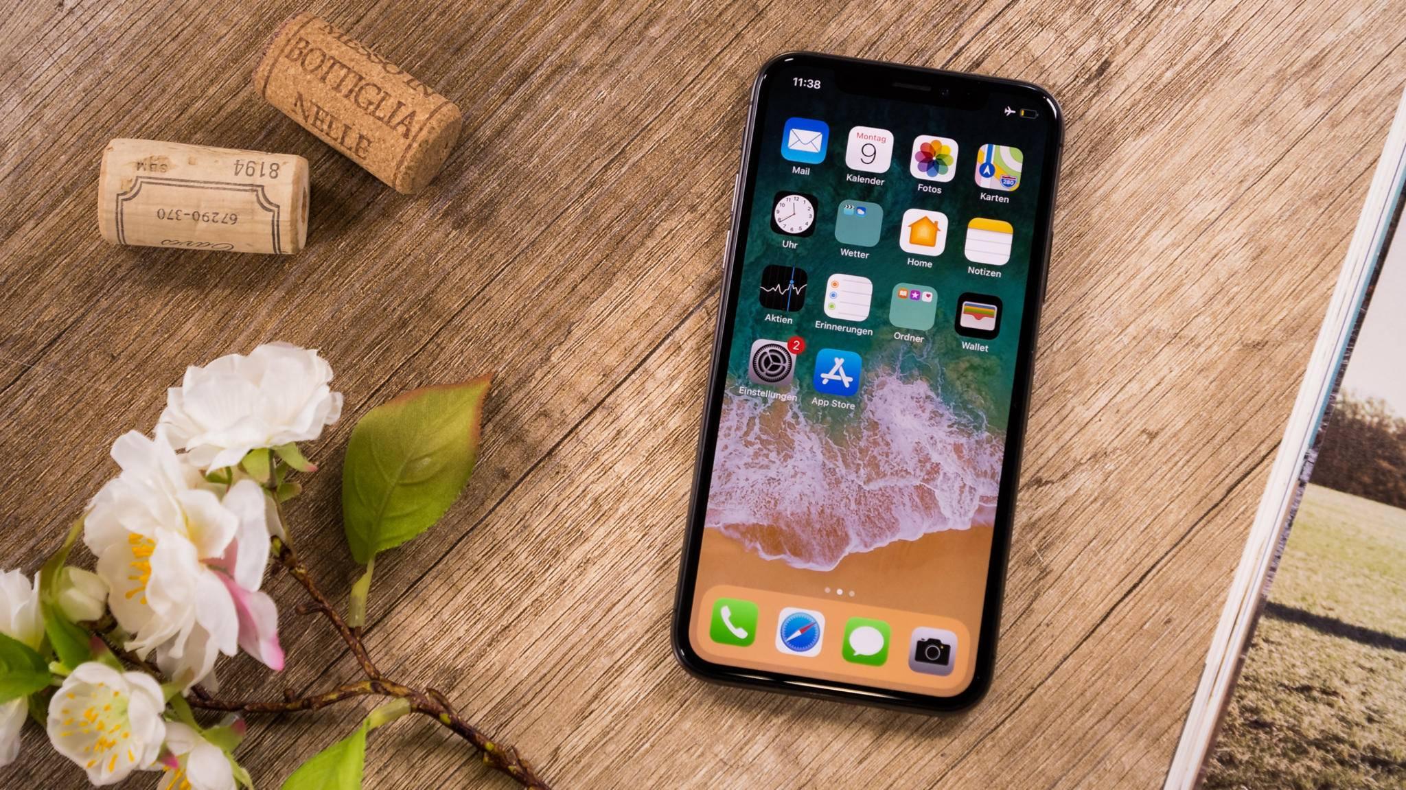 Apple kann die Korken knallen lassen: Das iPhone X war das weltweit gefragteste Smartphone im März.