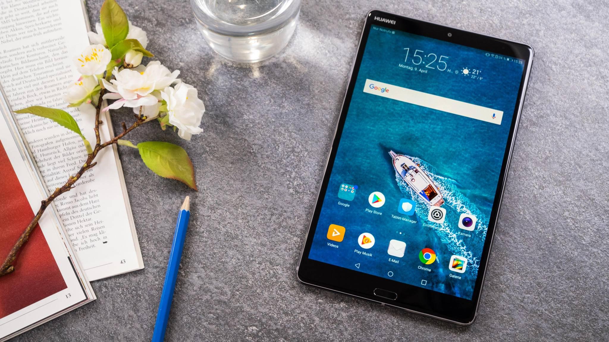 Mit dem Huawei MediaPad M5 LTE (in 8 Zoll oder 10,8 Zoll erhältlich) kannst Du auch telefonieren.