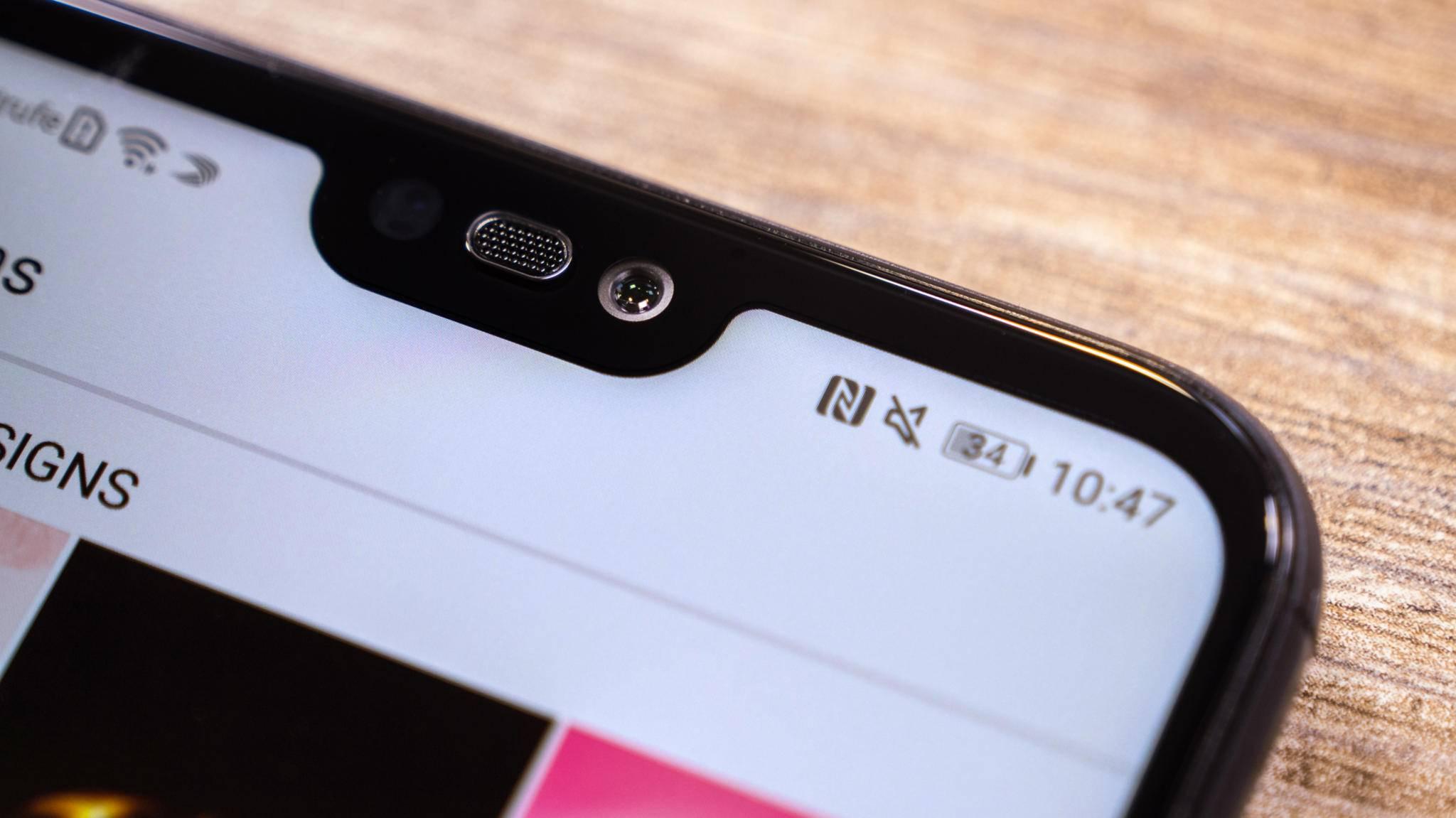 Die Notch der Huawei-P20-Serie ähnelt der des iPhone X.