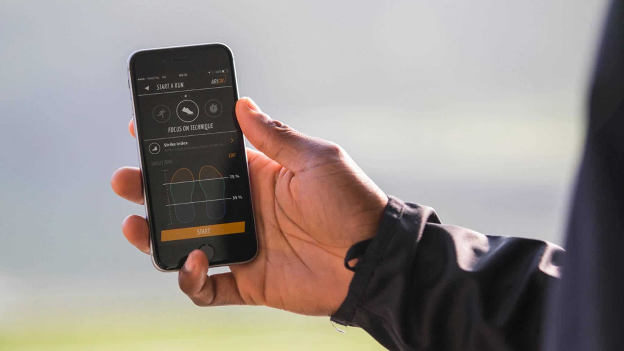 Die App liefert bei Bedarf Echtzeit-Feedback.