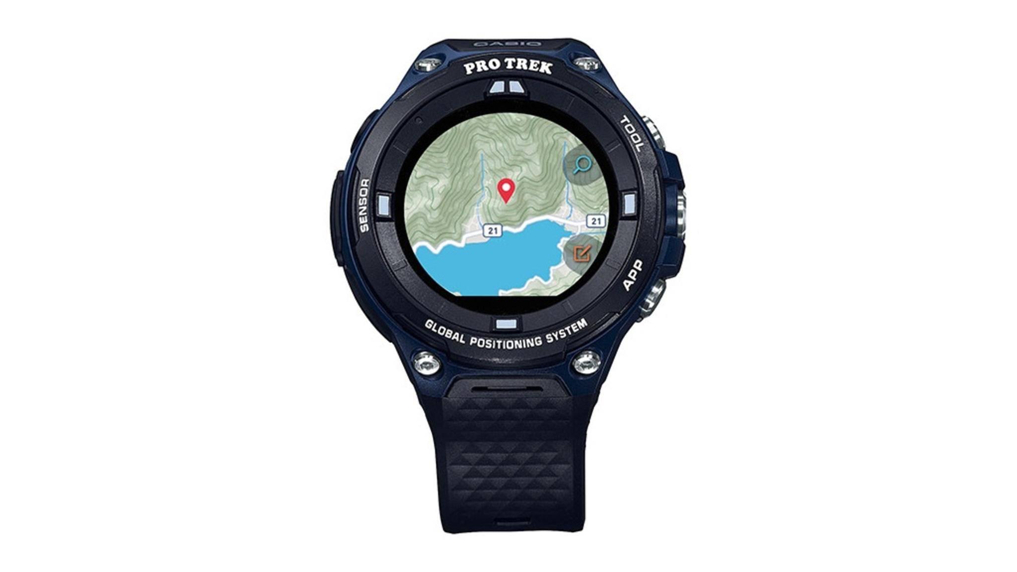 Die Pro Trek WSD-F20A ist eine Smartwatch für Outdoor-Sportler.