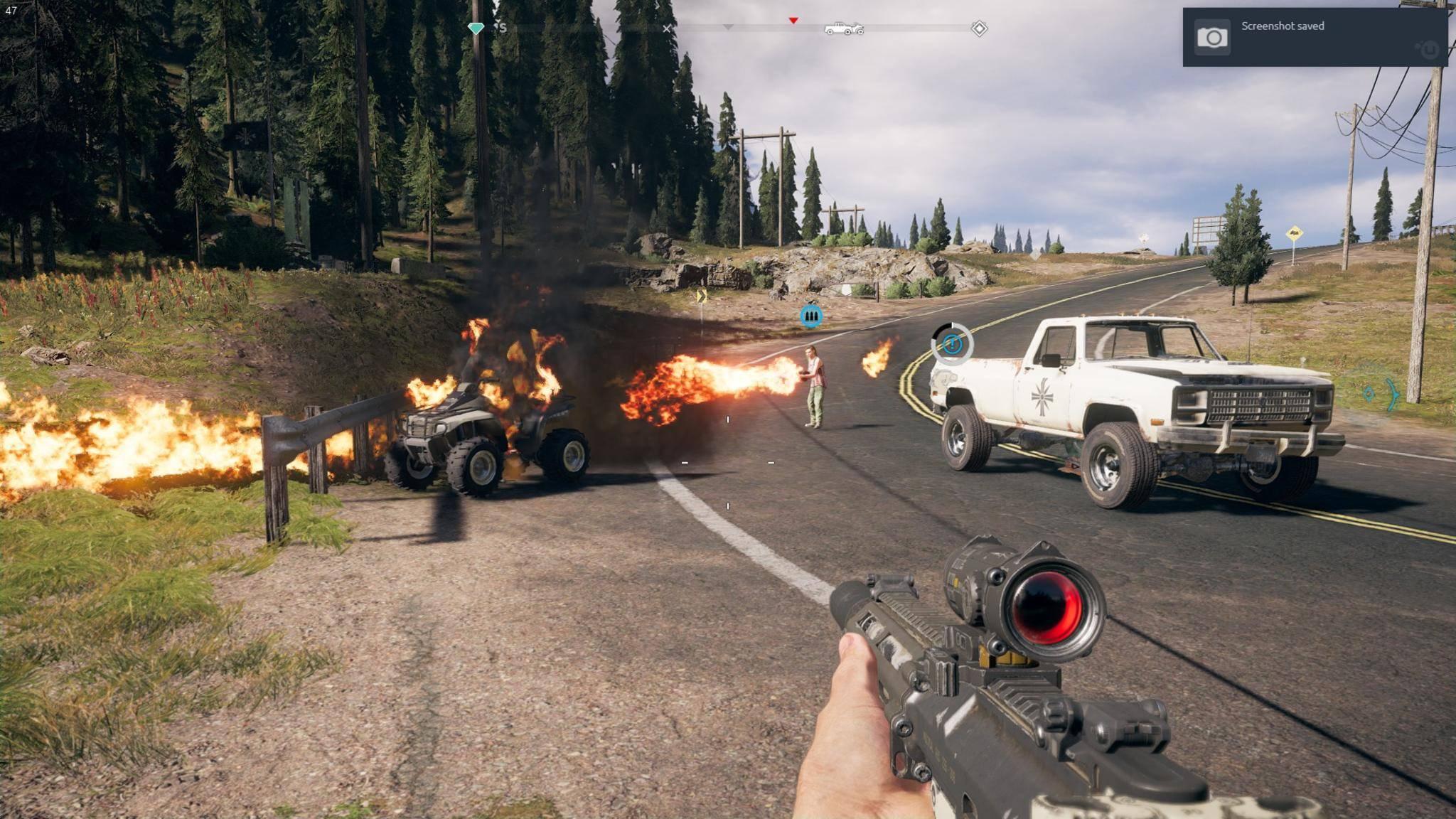 """Feuerkraft ist in """"Far Cry 5"""" die halbe Miete."""
