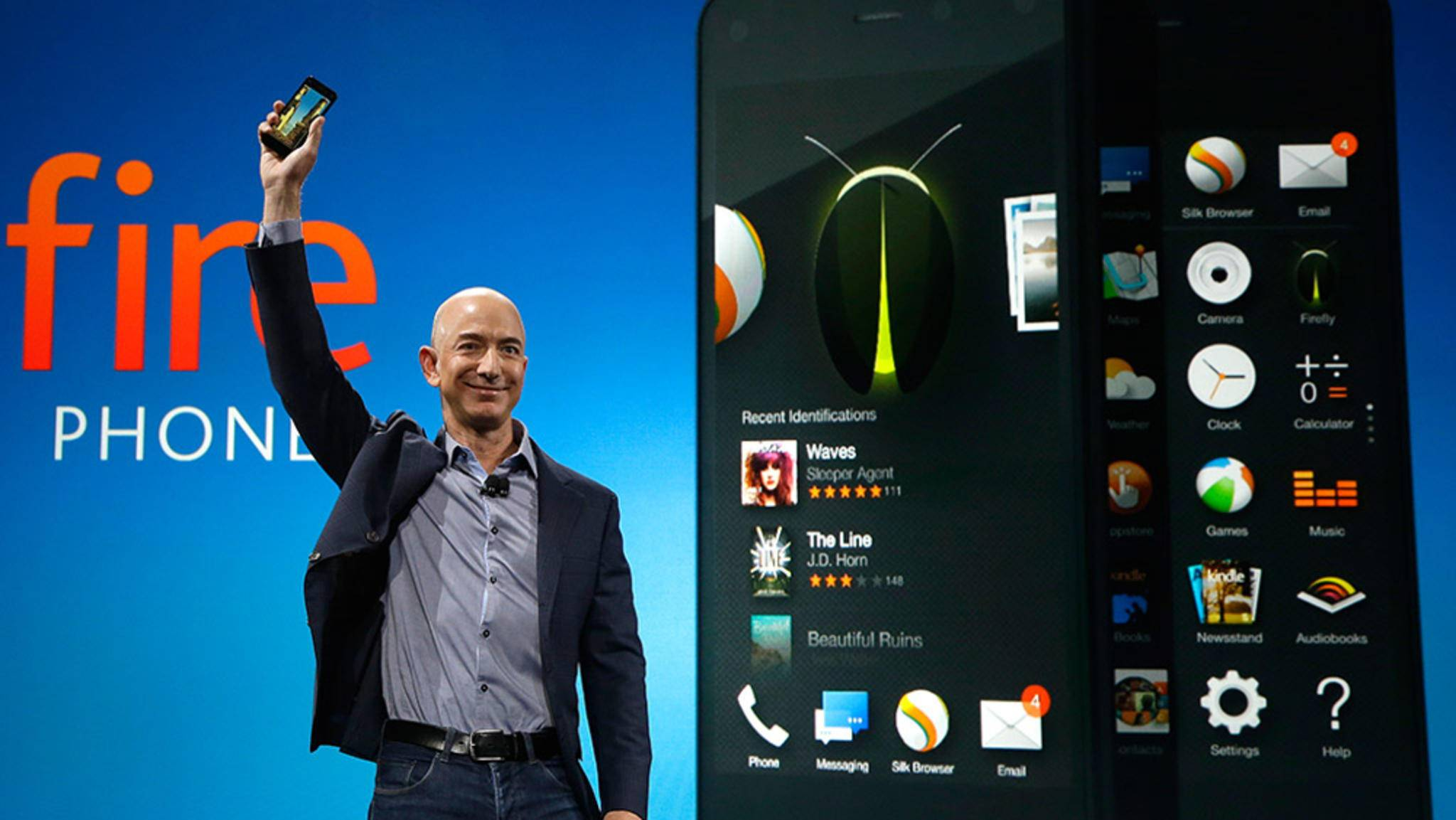 Damals zeigte sich Amazons CEO Bezos für das Fire Phone noch zuversichtlich.