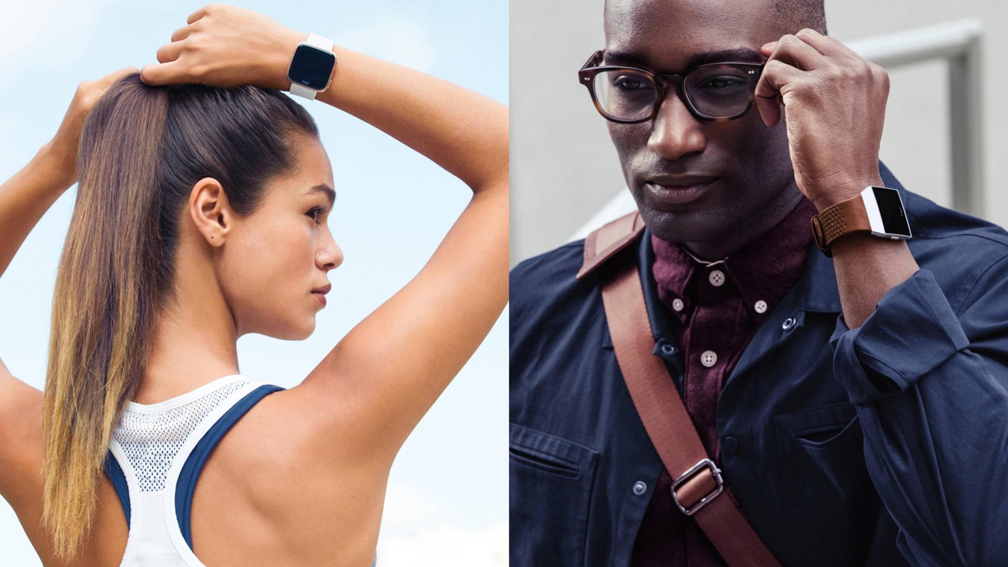 Es treten an: Fitbit Versa vs. Fitbit Ionic.