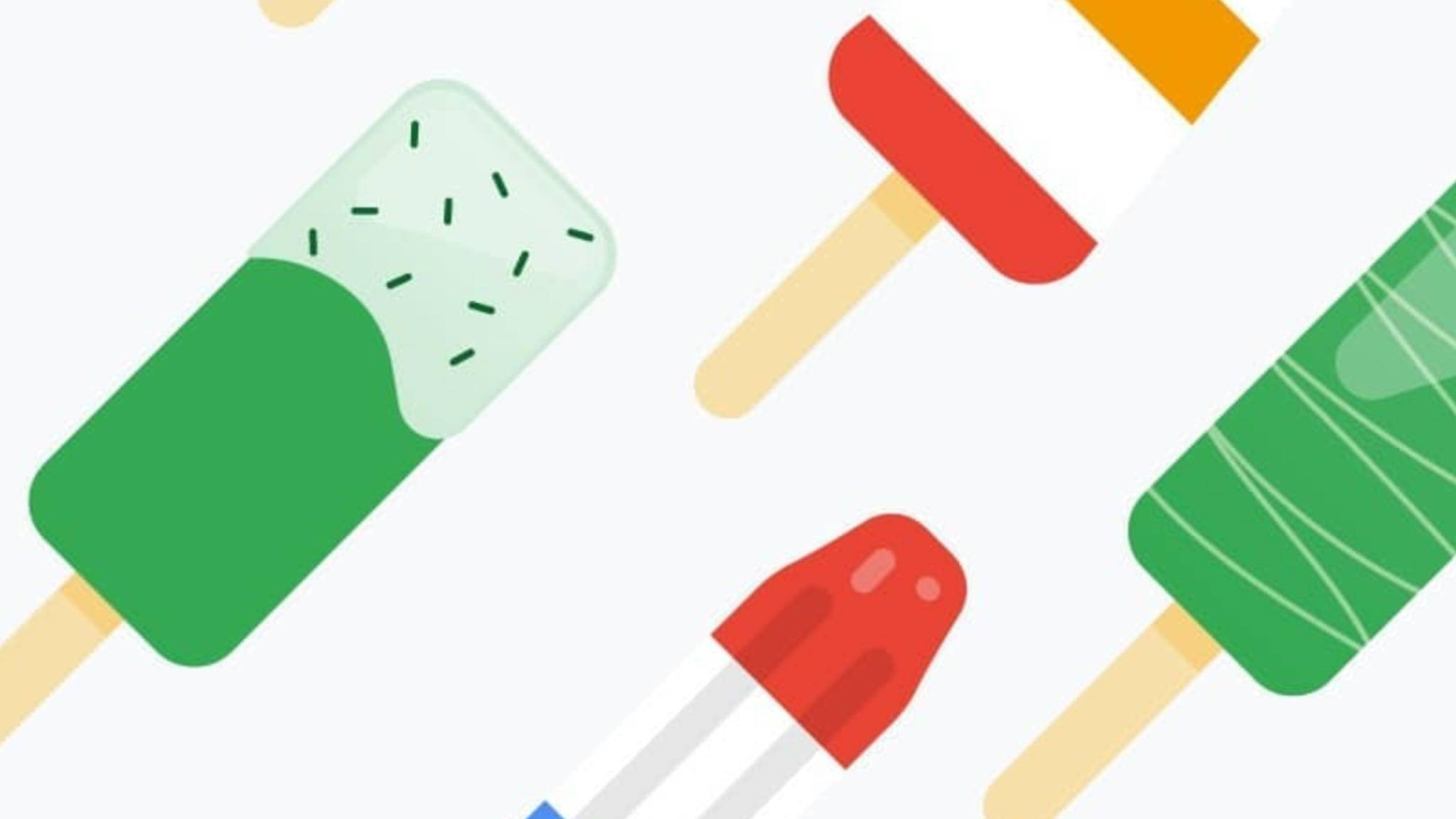 Versteckt sich in diesem farbenfrohen Wallpaper ein Hinweis auf den Namen von Android P?