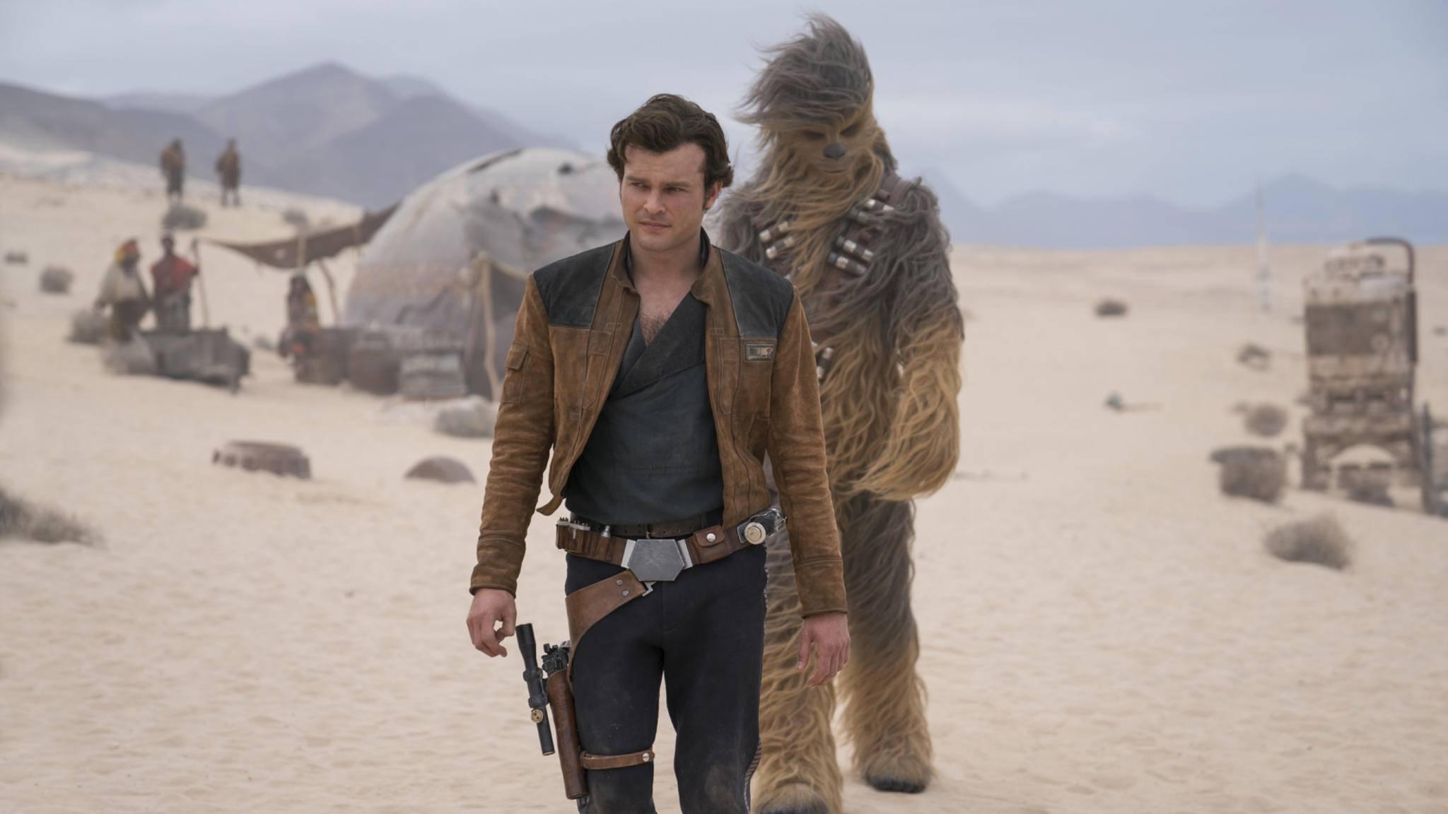 """Ab dem 24. Mai zeigt """"Solo: A Star Wars Story"""" im Kino, wie sich Han Solo und Chewbacca kennengelernt haben."""