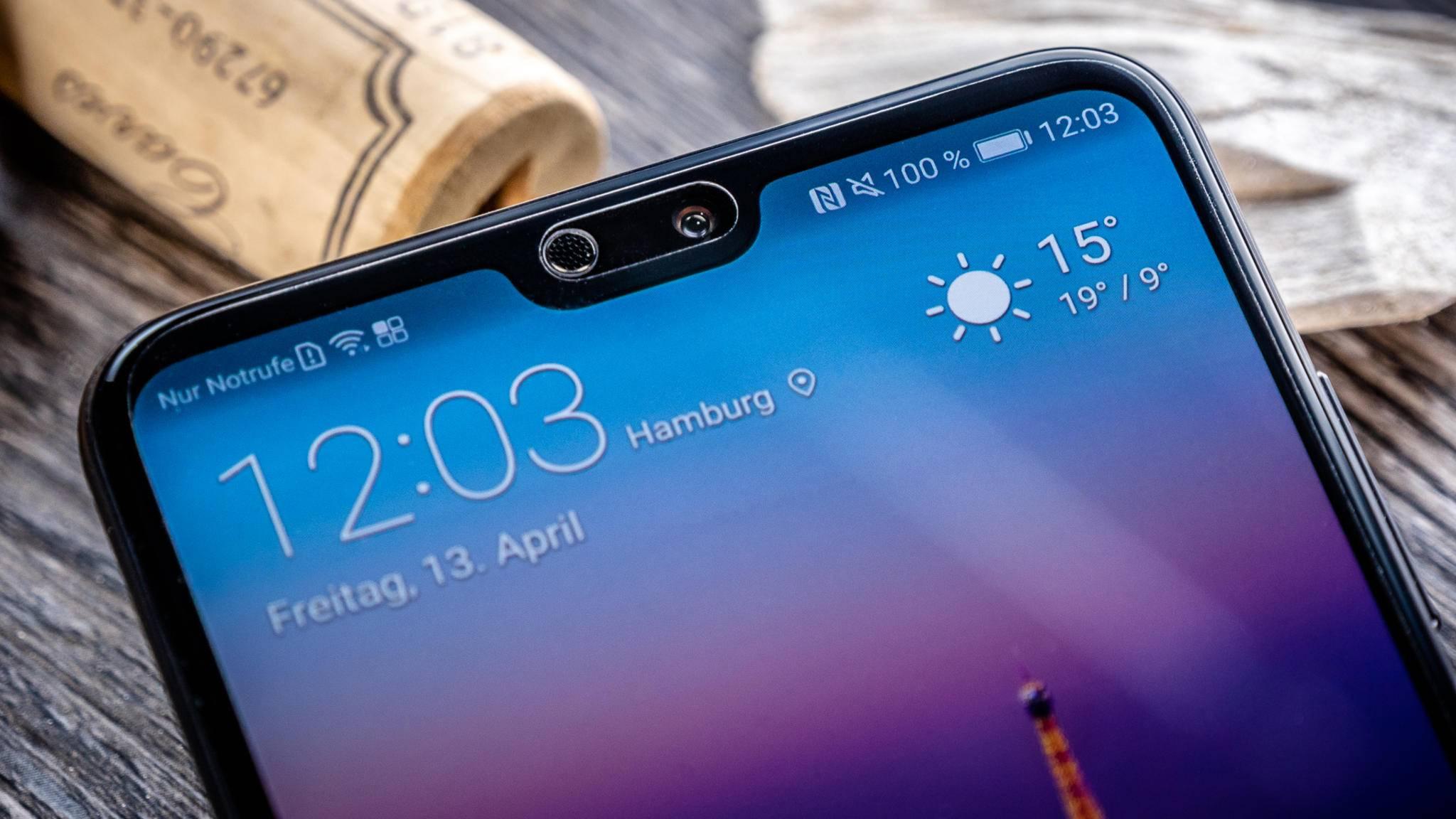 Die Notch wird bei Huawei bereits in Android 8.0 unterstützt.