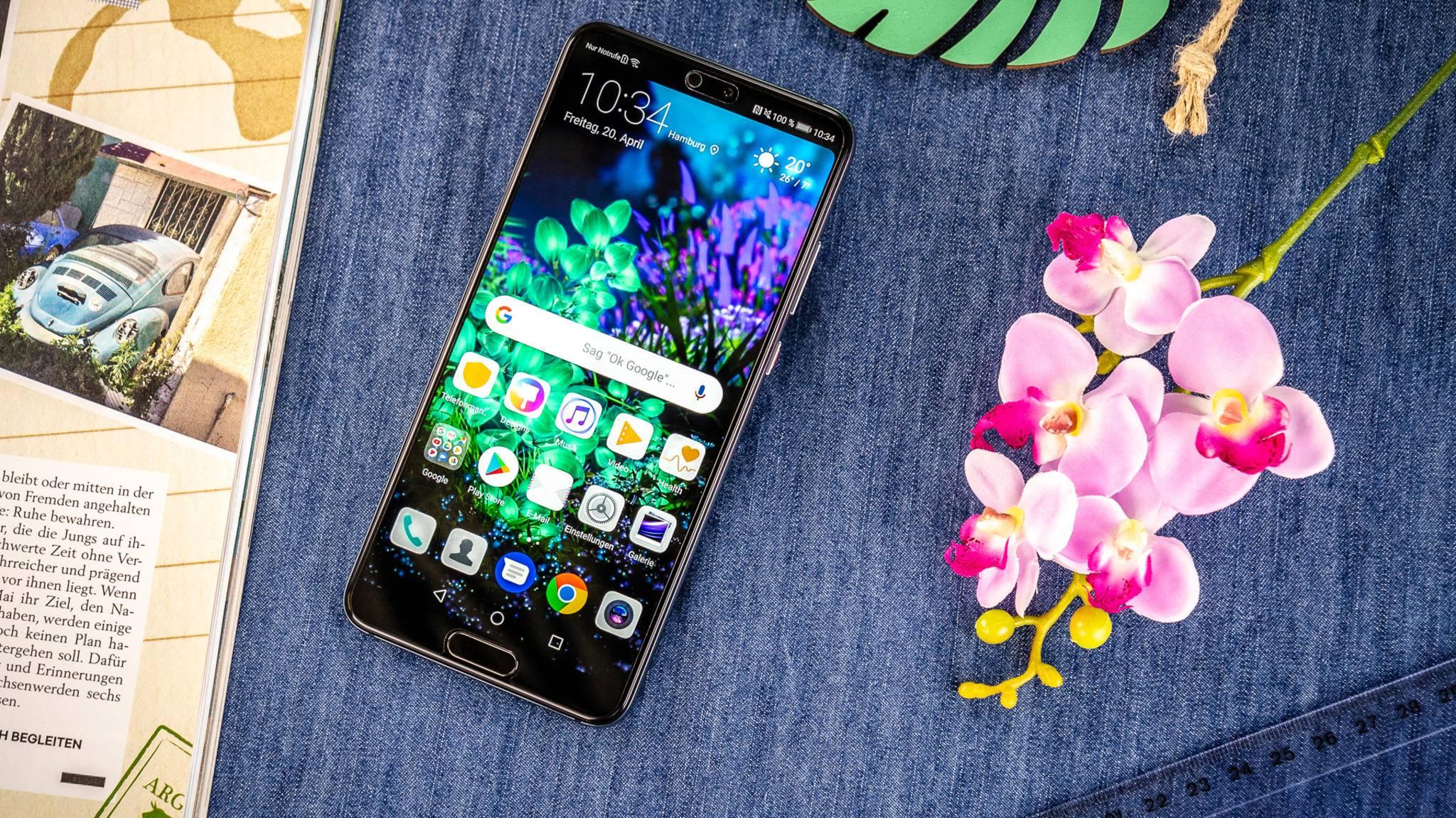 Das Huawei P20 beeindruckt mit einem hervorragenden Display.