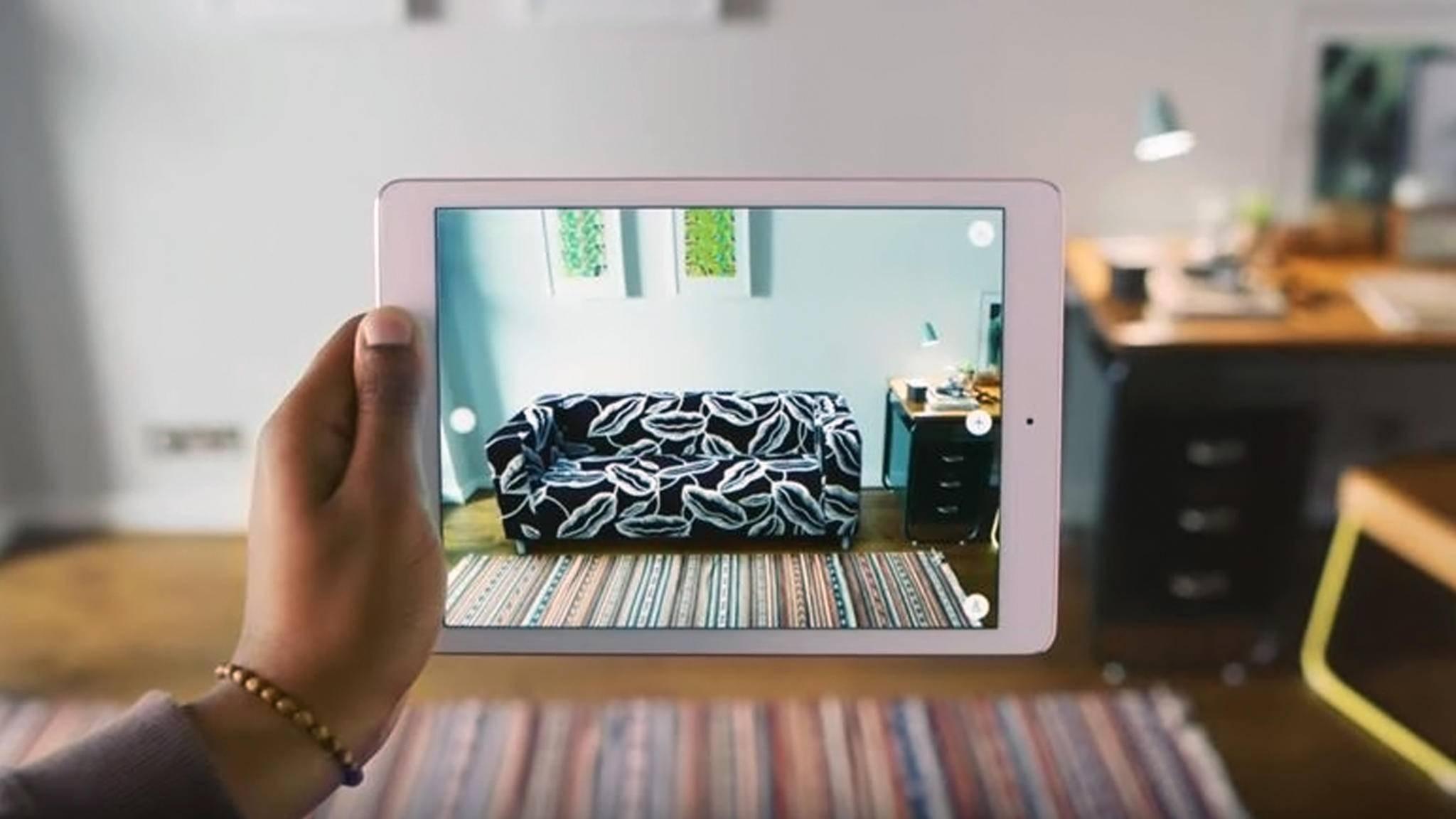Wohnungsplaner-Apps wie Ikea Place helfen Dir dabei, Deine Wohnung virtuell zu gestalten.