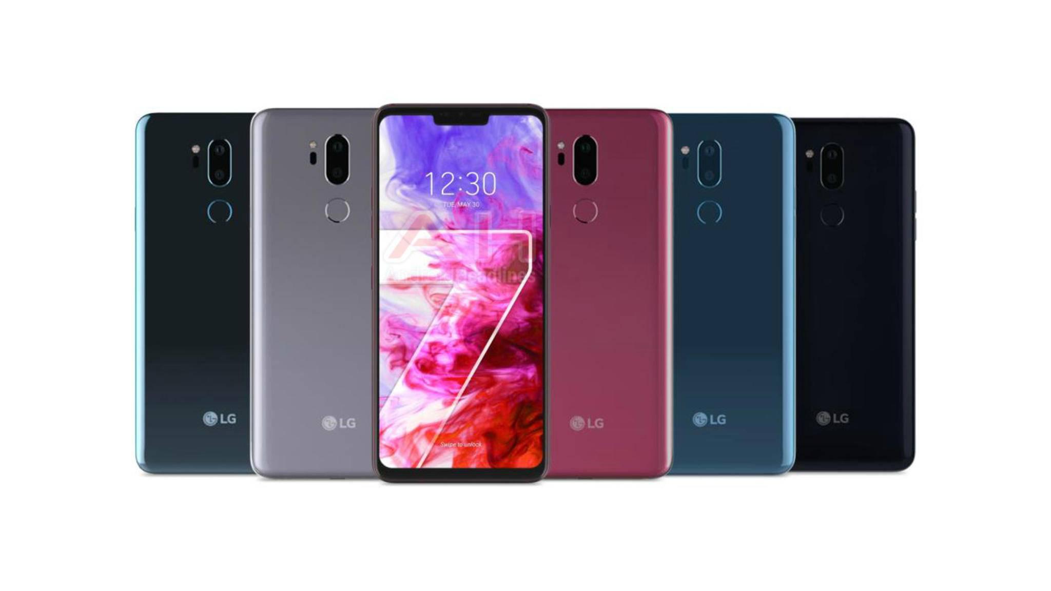 Das LG G7 ThinQ erscheint zum Release in fünf verschiedenen Farben.